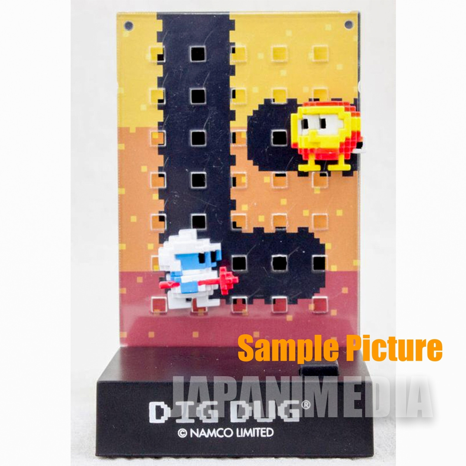 RARE! Namco Dotgraphics Dig Dug  Figure with Game Sound JAPAN FAMICOM