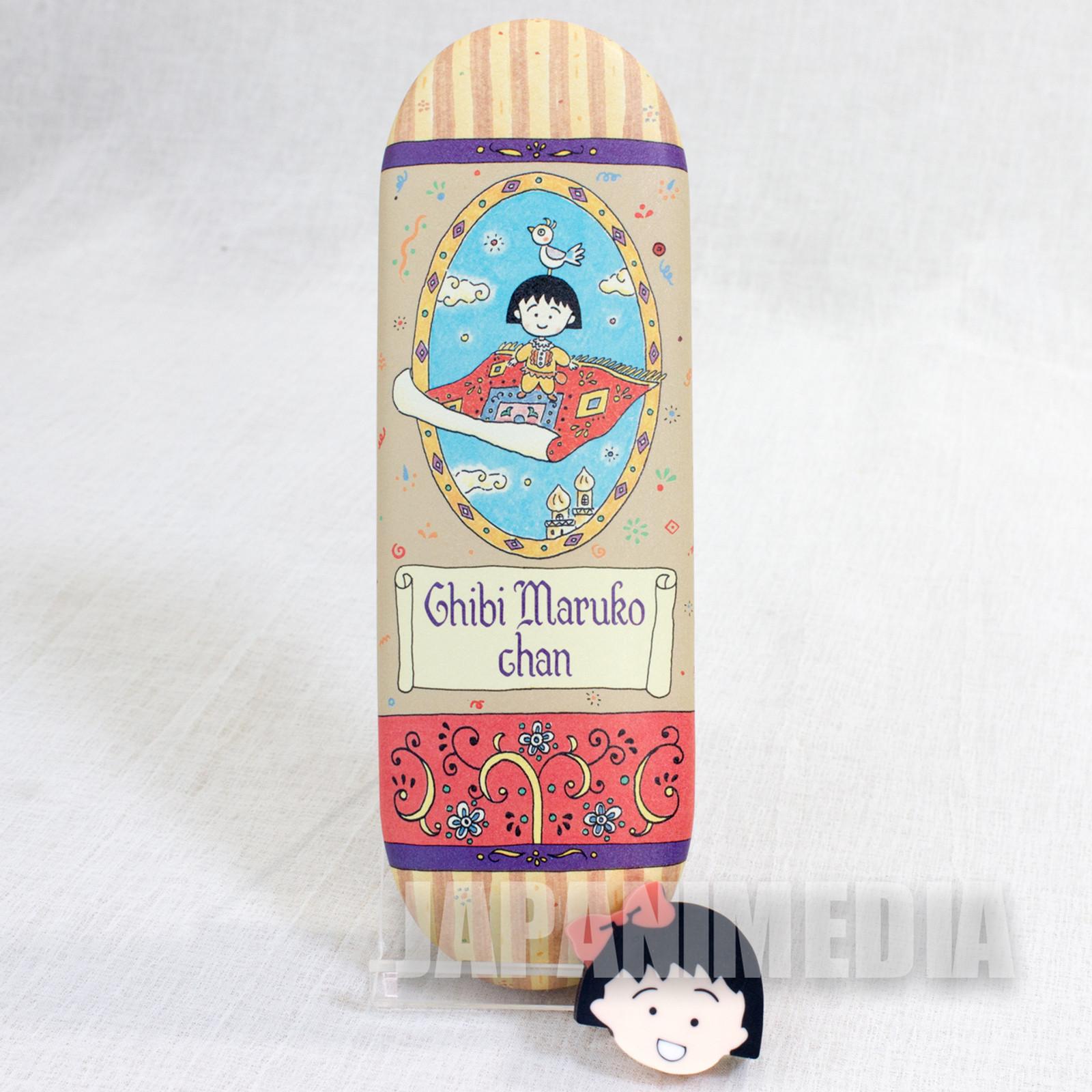 RARE! Chibi Maruko Chan Can Pen Case & Eraser JAPAN ANIME MANGA