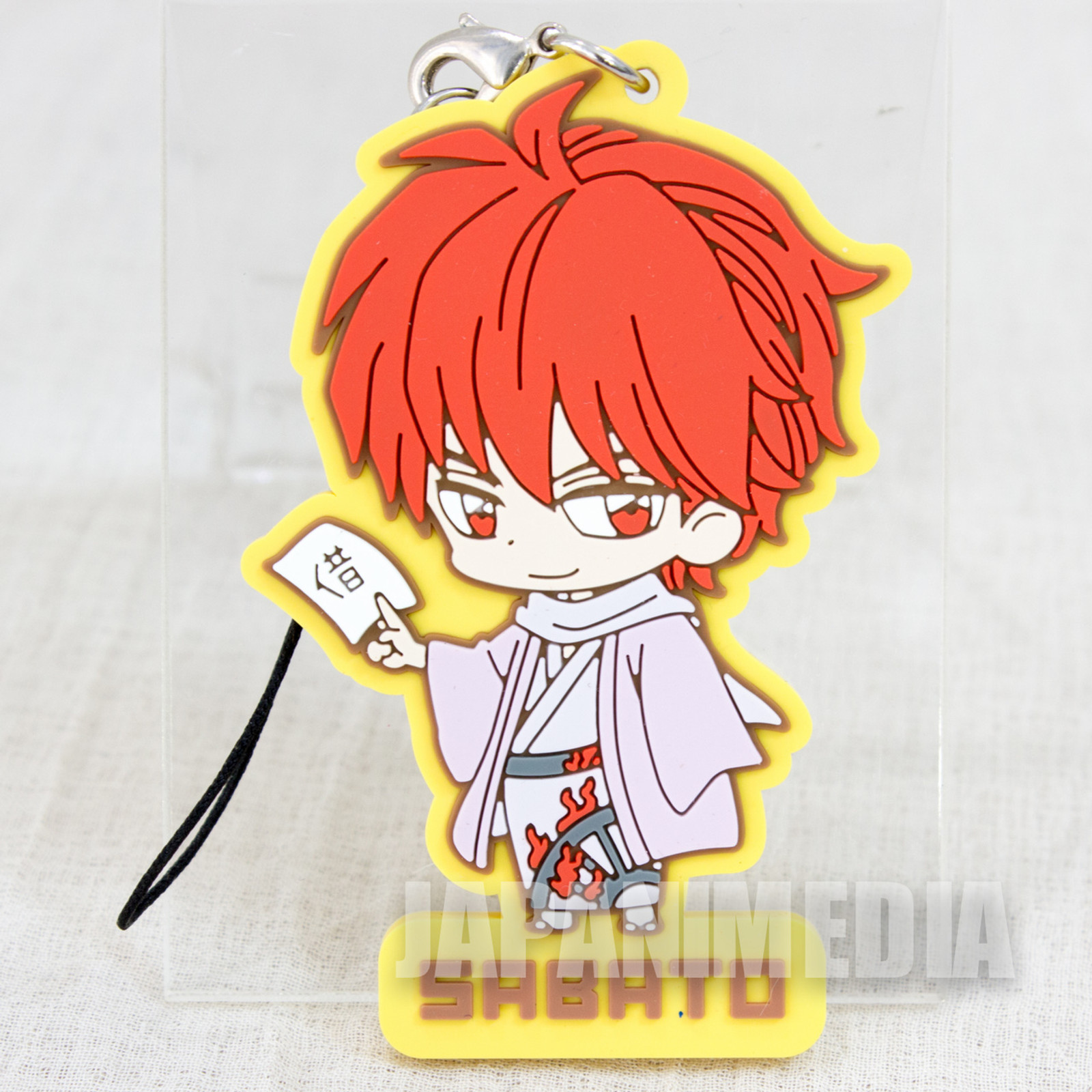 Kyokai no Rinne Sabato Rokudo Mascot Rubber Strap JAPAN ANIME MANGA