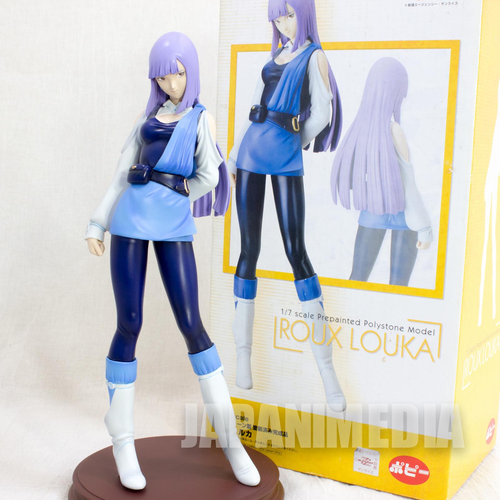 RARE! Gundam ZZ Roux Louka Figure Polystone 1/7 Scale Popy