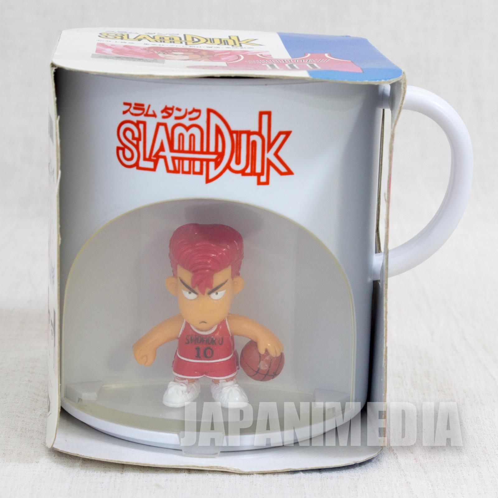 SLAM DUNK Hanamichi Sakuragi Team Shohoku #10 Figure in Plastic Mug Banpresto JAPAN ANIME MANGA