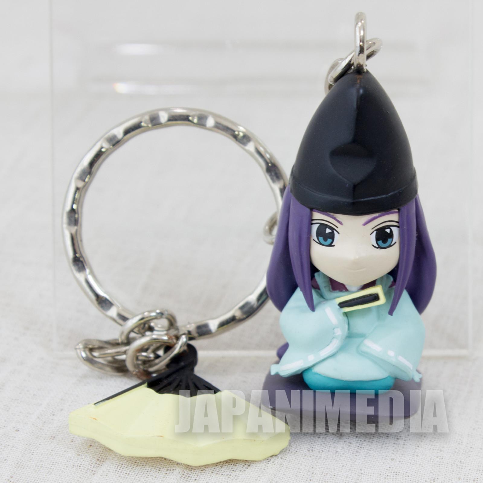 Hikaru no Go Fujiwara no Sai with Sensu Figure Key Chain JAPAN ANIME MANGA JUMP