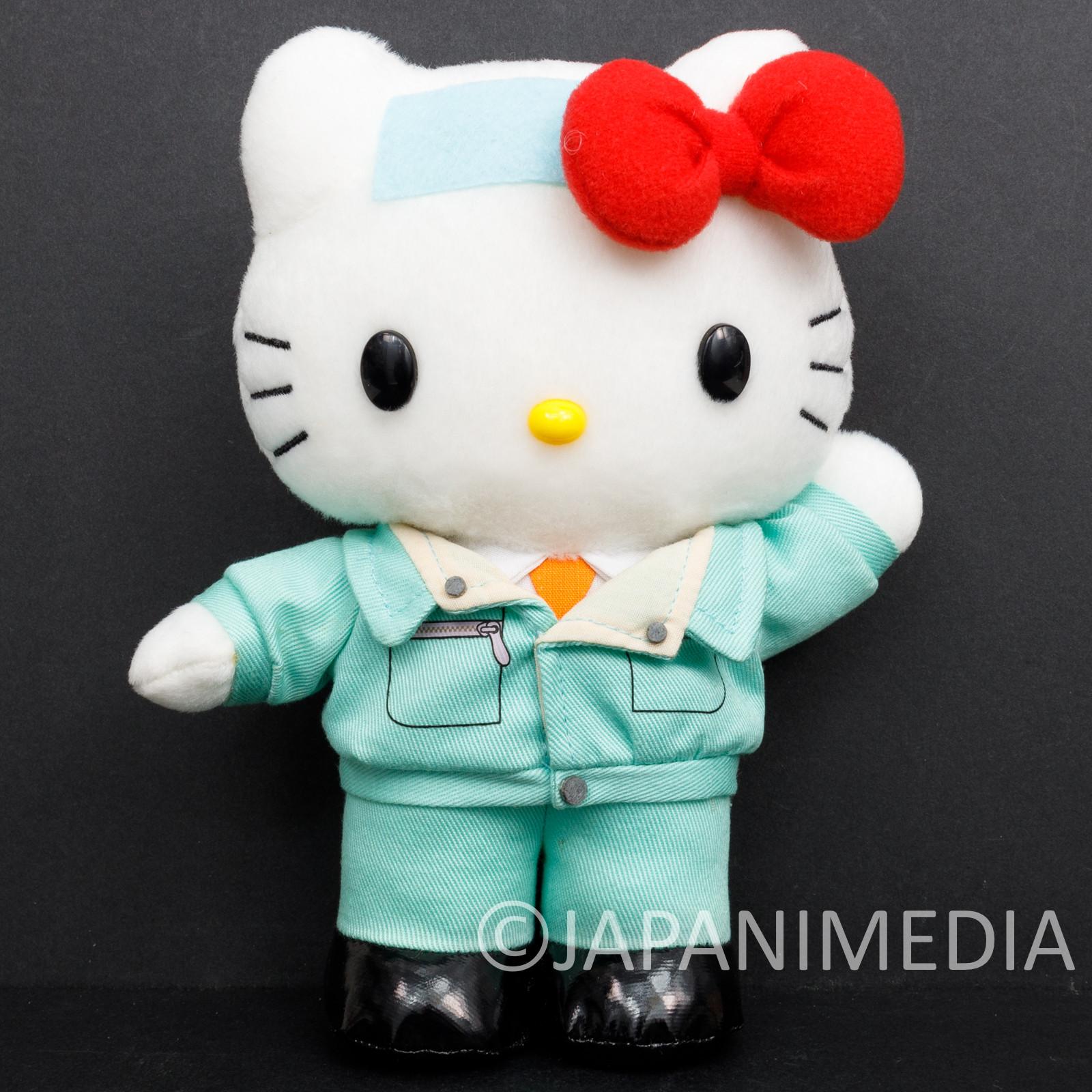 RARE Game Center CX Hello Kitty as Arino Kacho Plush Doll Fuji Television Sanrio