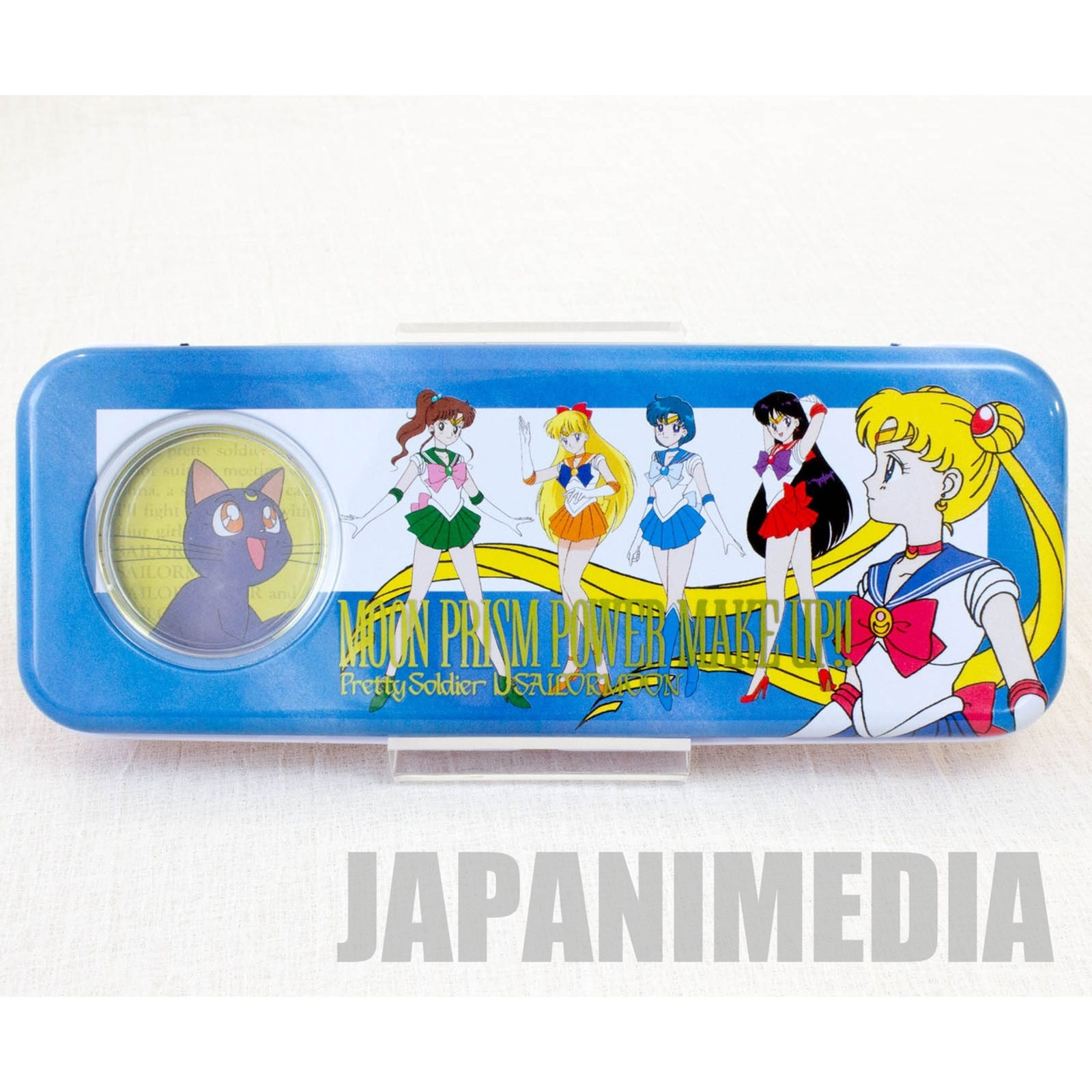 Retro RARE! Sailor Moon Can Pen Case  [Sailor Moon,Mercury,Mars,Jupiter,Venus,Luna] JAPAN ANIME MANGA