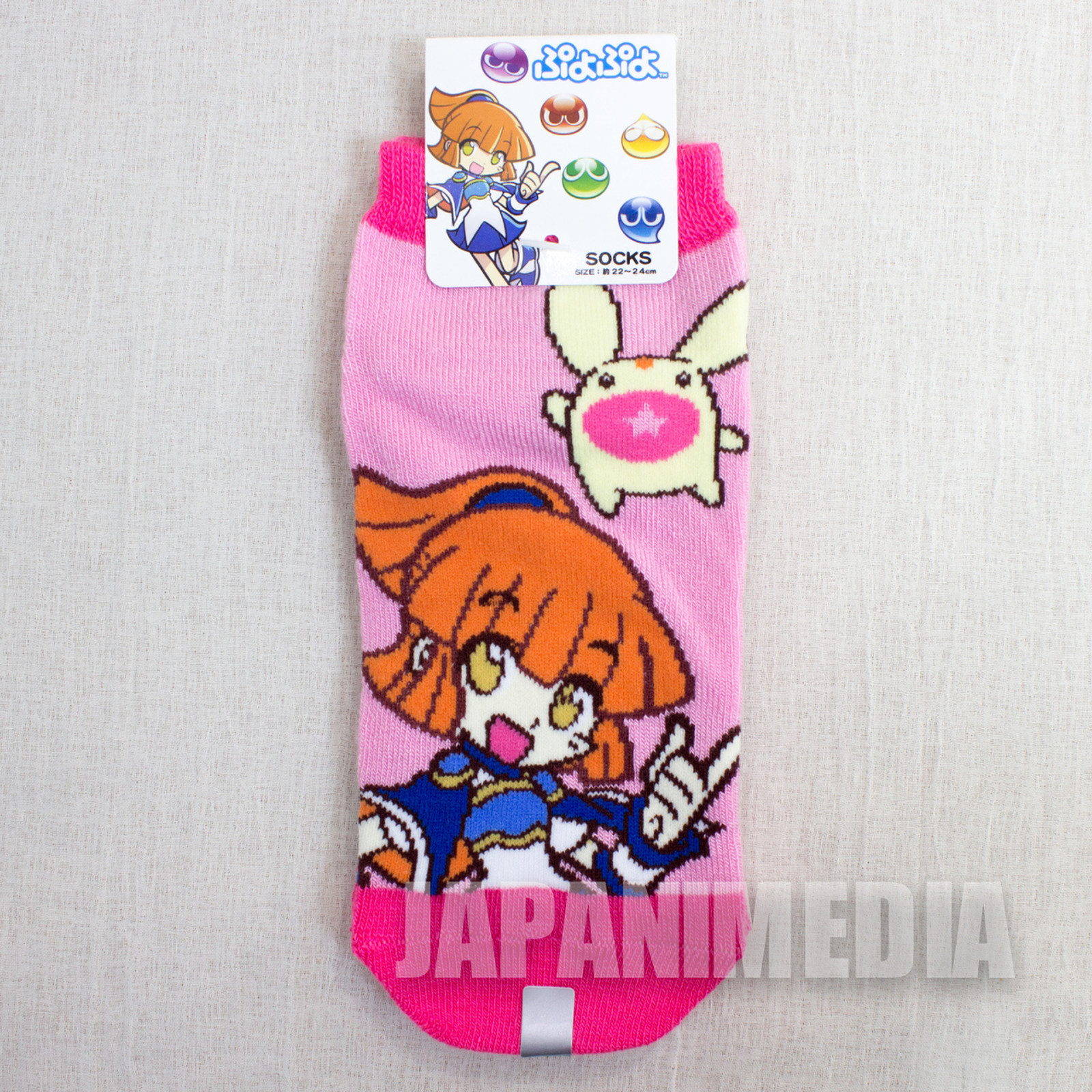 Puyo Puyo #3 a Pair of Socks Size 22-24cm JAPAN ANIME MANGA