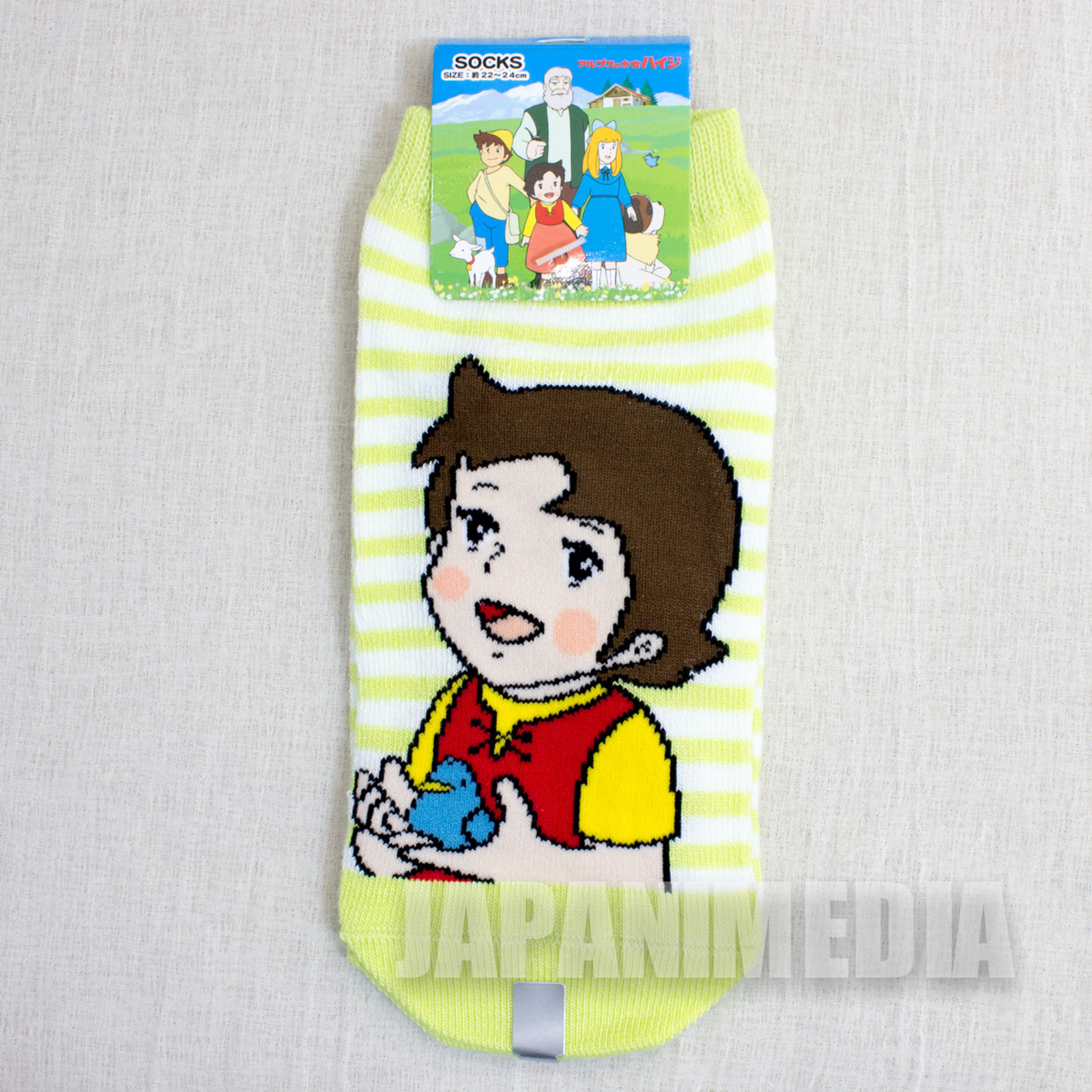 Heidi Girl of the Alps #1 a Pair of Socks Size 22-24cm JAPAN ANIME MANGA