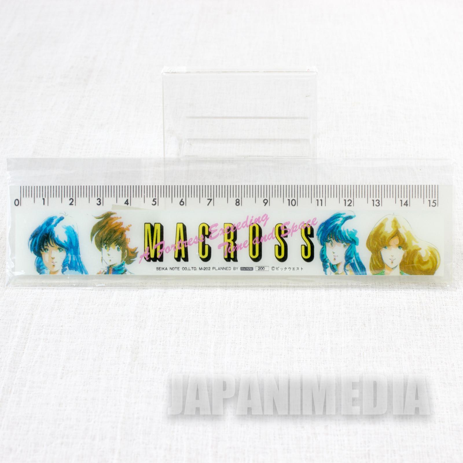 Macross Ruler 15cm [Hikaru Ichijo /  Lynn Minmay / Misa Hayase] JAPAN ANIME