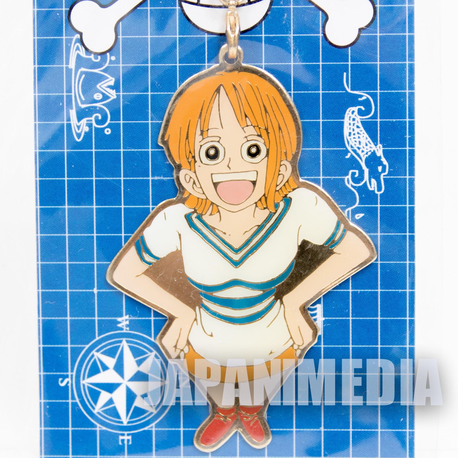 One Piece Nami Metal Charm Keychain Shonen Jump JAPAN ANIME