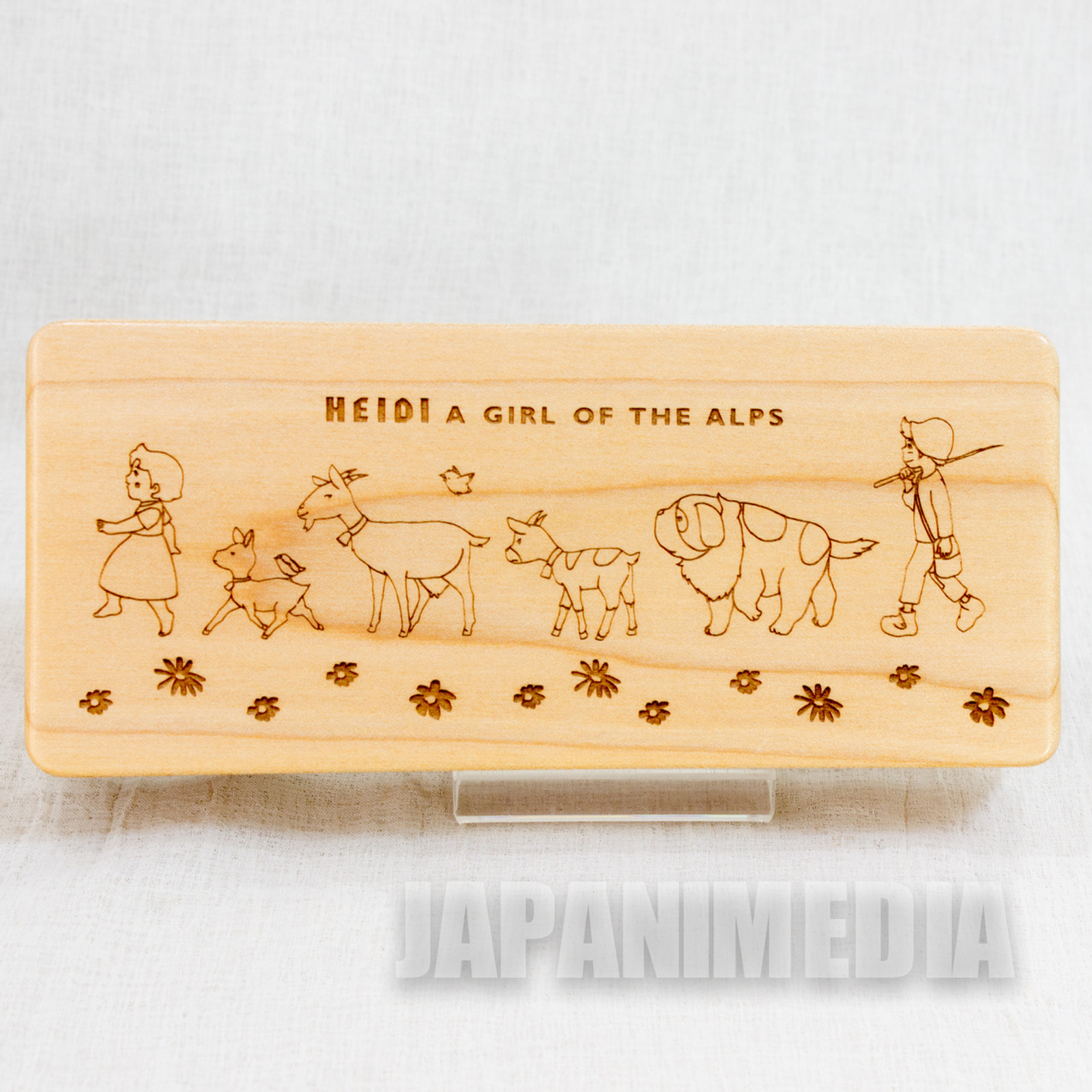 Heidi Girl of the Alps Wooden Ballpoint pen & Wooden Case JAPAN ANIME