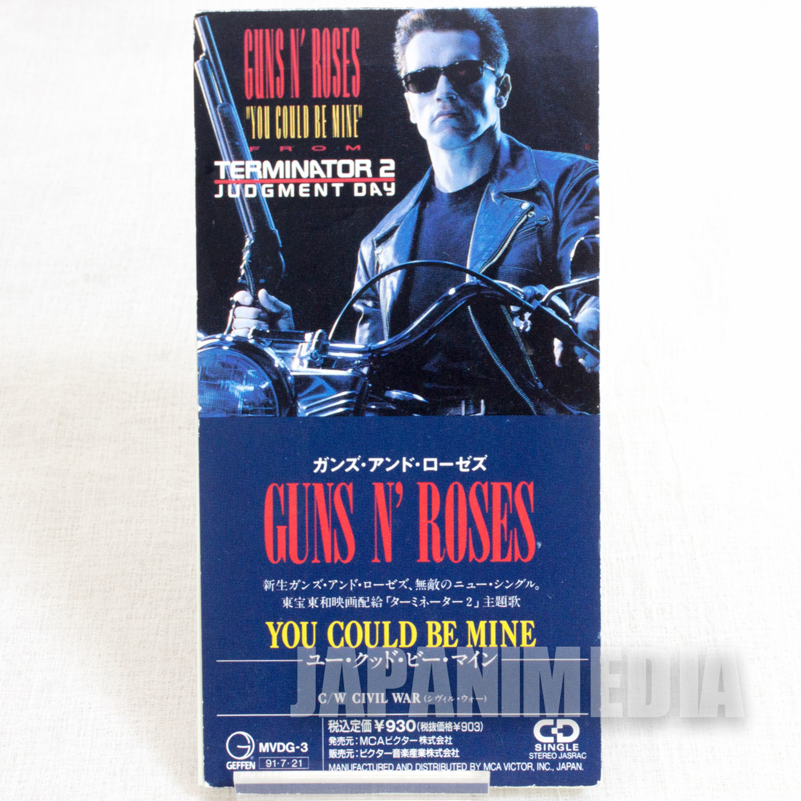 GUNS N' ROSES You Could Be Mine Terminator 2 JAPAN 3inches 8cm Single CD