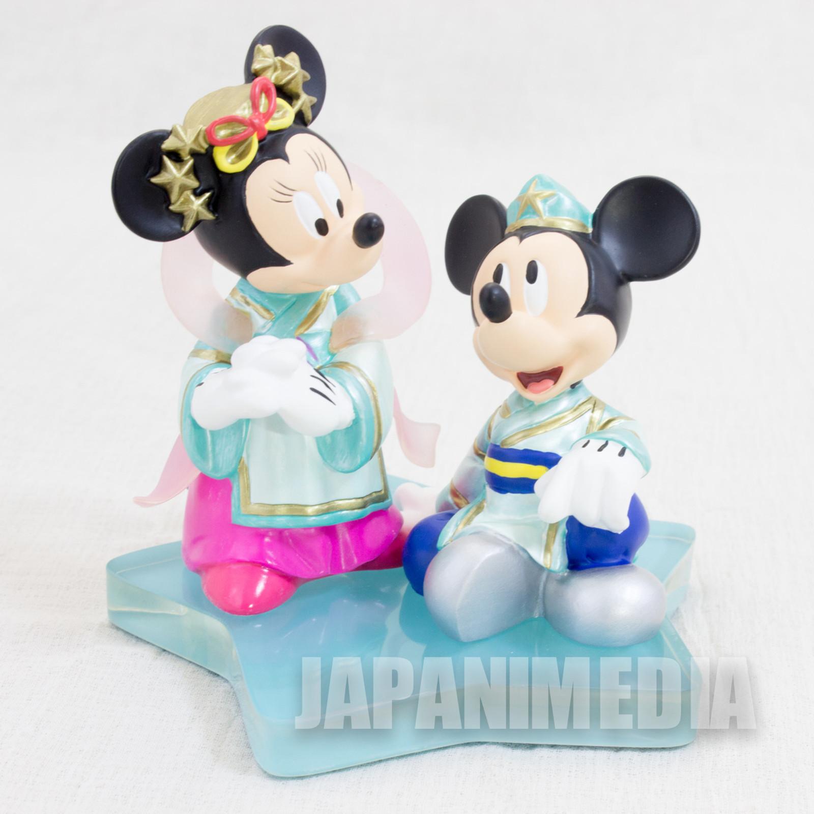 Mickey & Minnie Mouse Hikoboshi & Orihime Figure Tokyo Disney Resort JAPAN