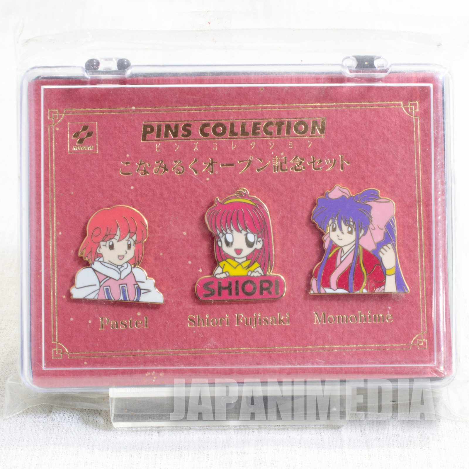 KONAMI Pins Collection Set Pastel Shiori Momohime Konamiruku JAPAN GAME