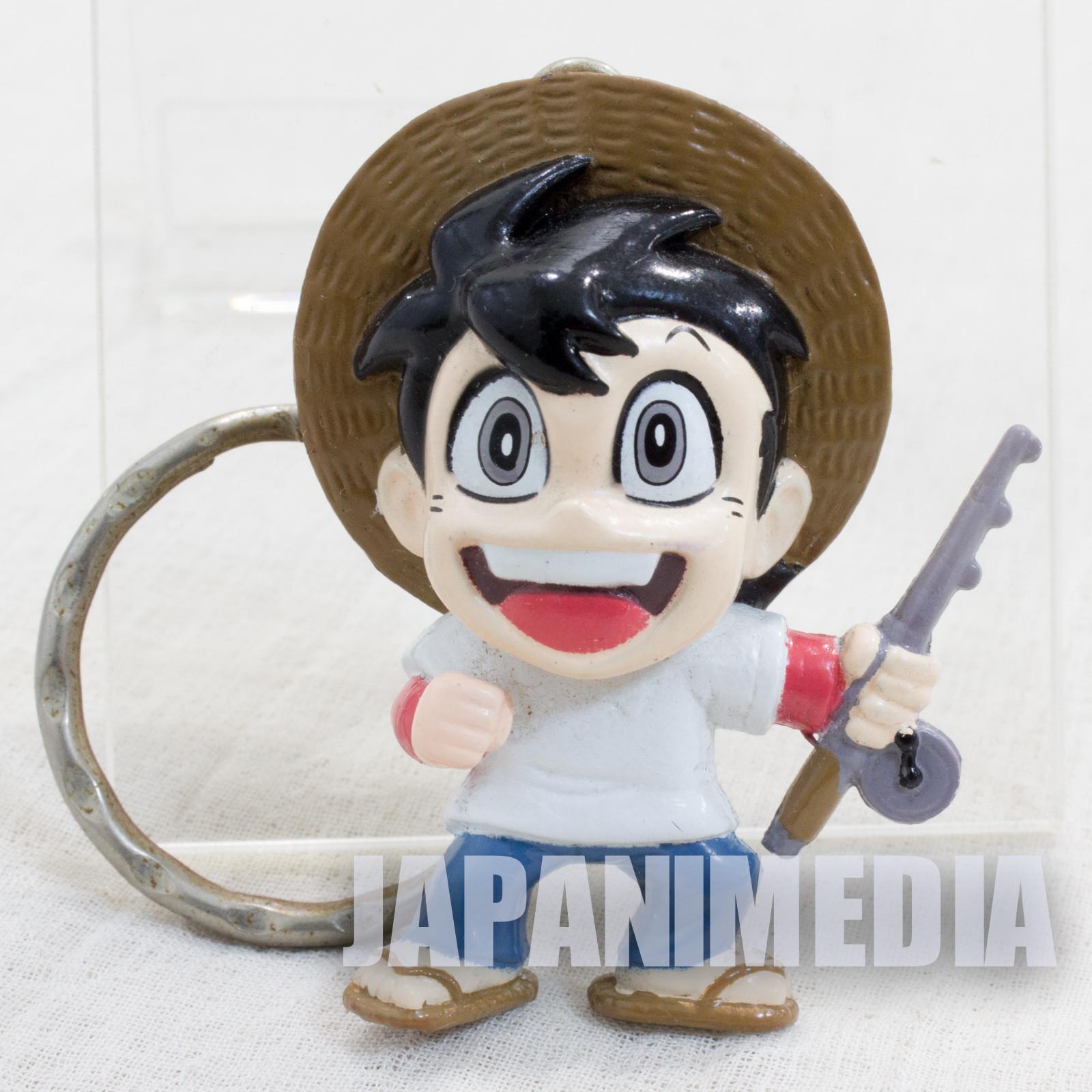 RARE! Fishing Crazy Tsurikichi Sanpei Figure Keychain JAPAN ANIME MANGA