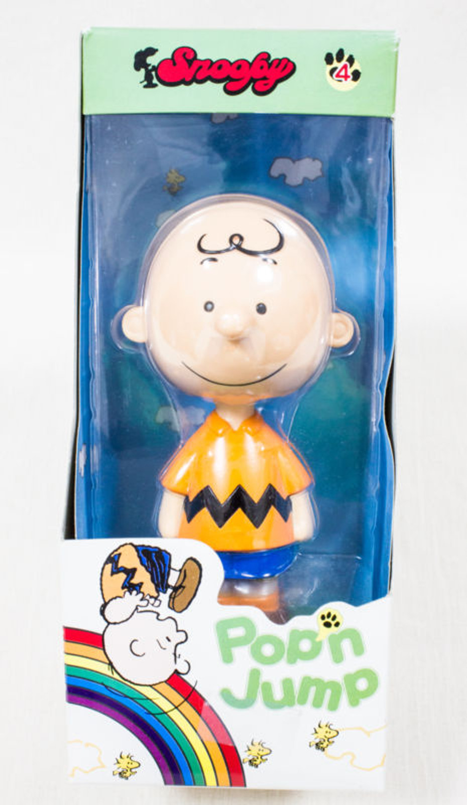 Snoopy Charlie Brown Pop'n Jump Figure La Chere Toy Peanuts JAPAN ANIME