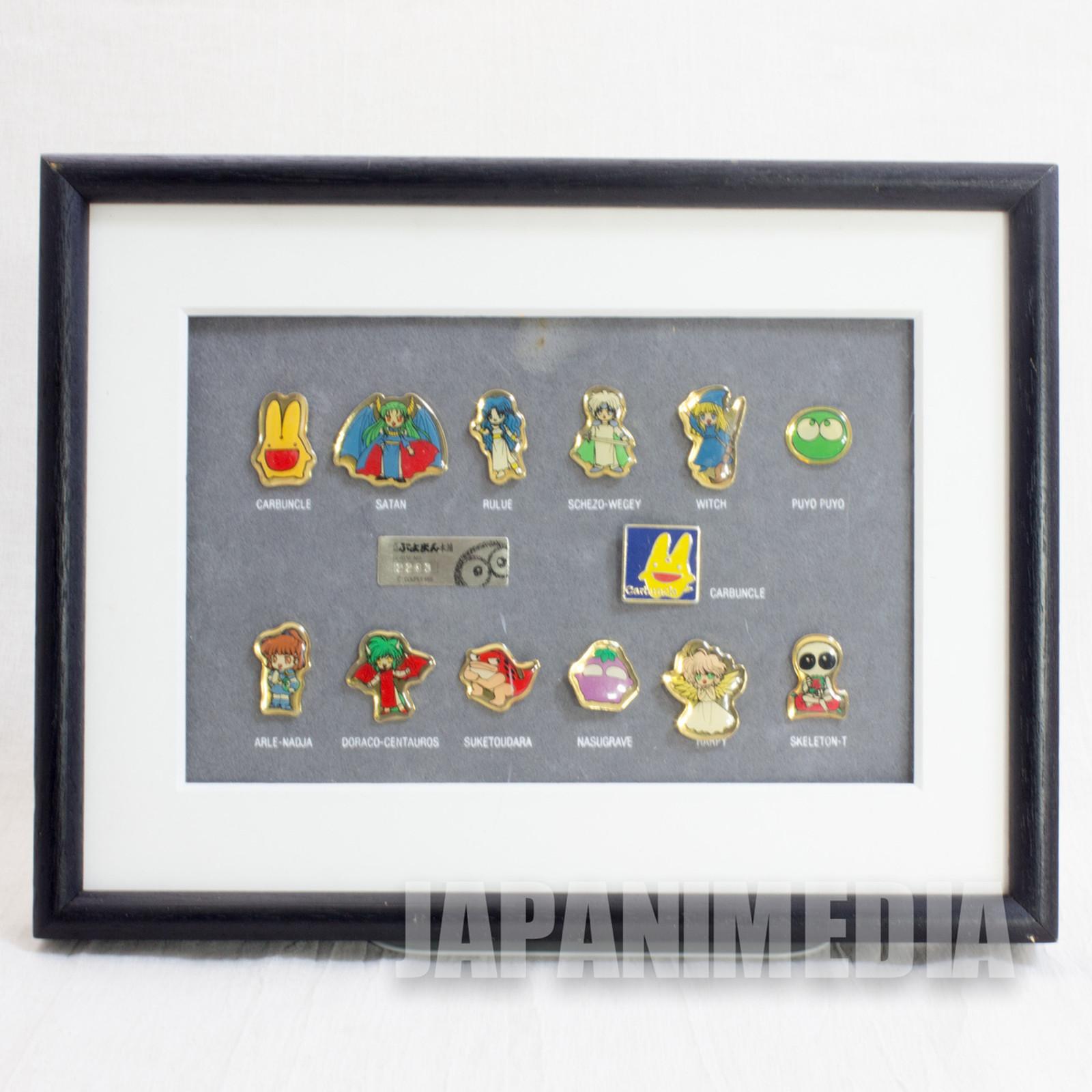 Puyo Puyo Puyoman Honpo Limited Character Pins 13pc Set JAPAN ANIME MANGA