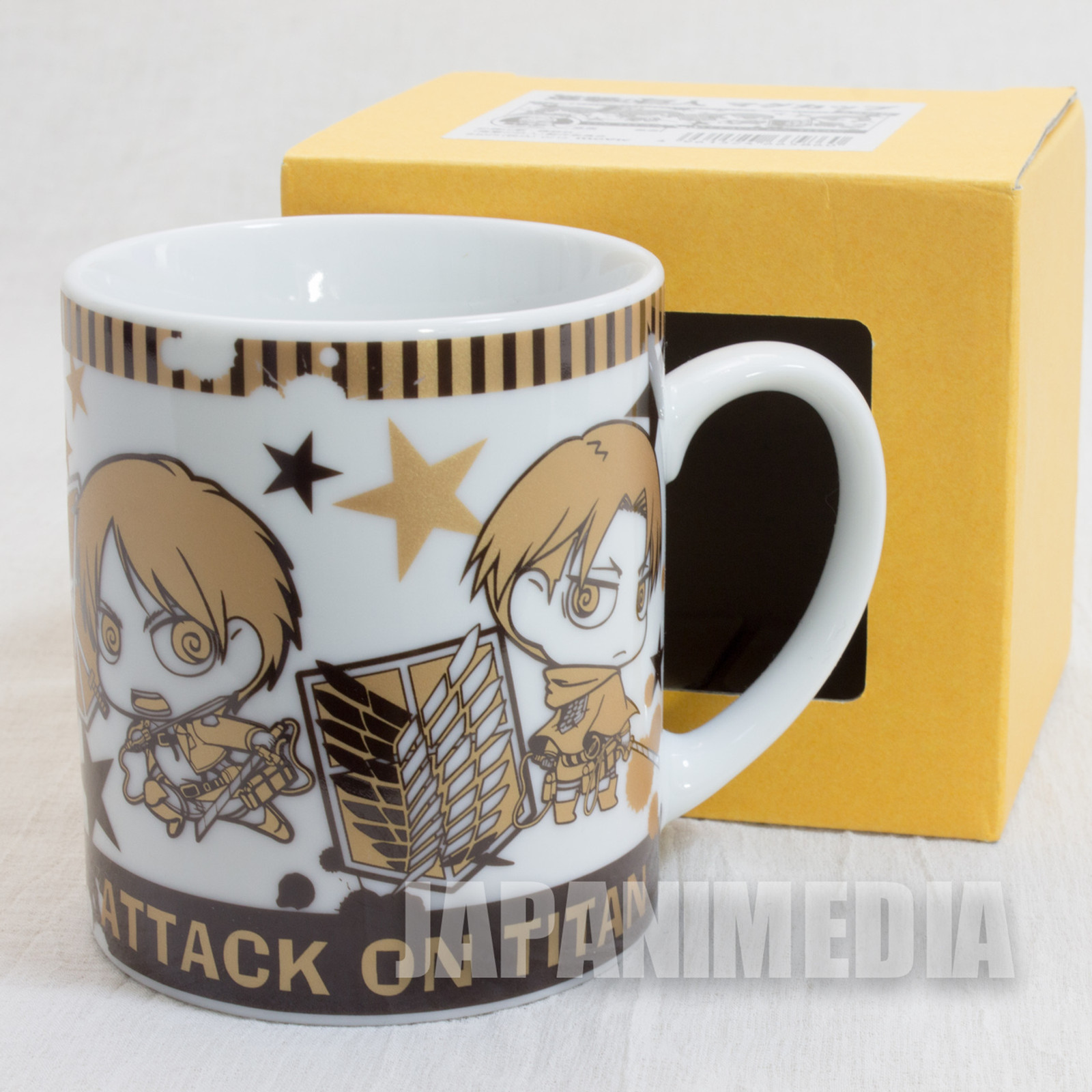 Attack on Titan Mug Eren Yeager Mikasa Levi Armin JAPAN ANIME