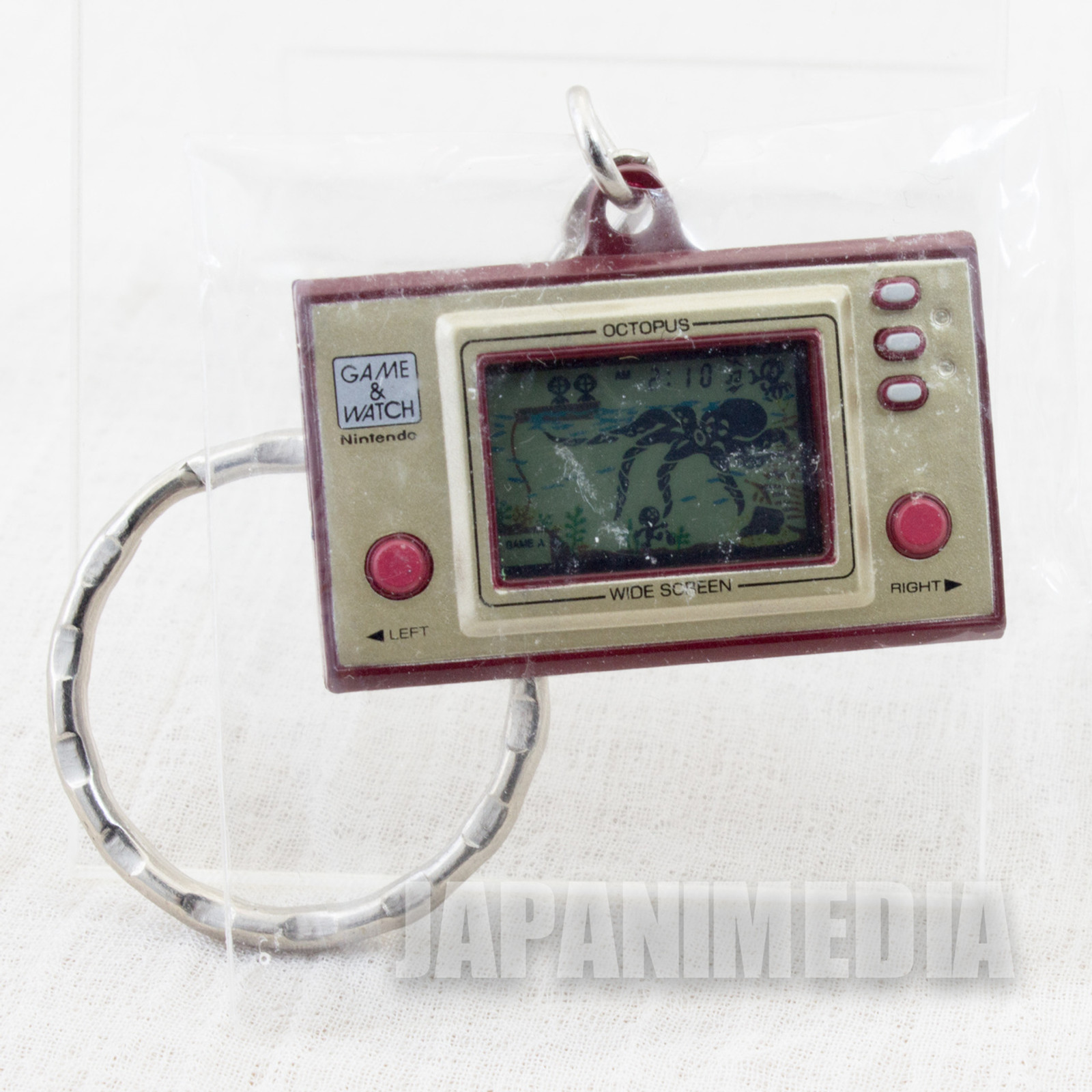 Nintendo Game & Watch History Miniature Figure Key Chain OCTOPUS JAPAN 2