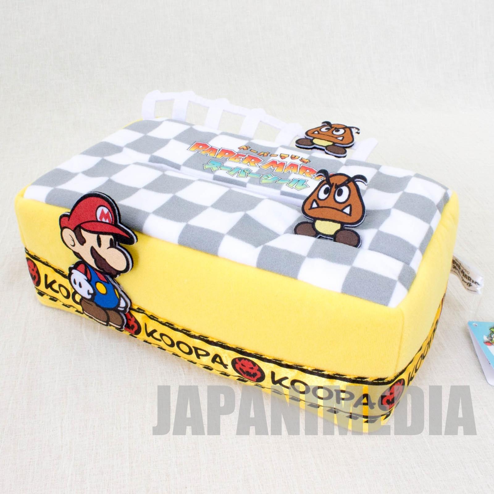 PAPER MARIO Diorama Tissue Case Cover NINTEND 3DS Sticker Star JAPAN GAME