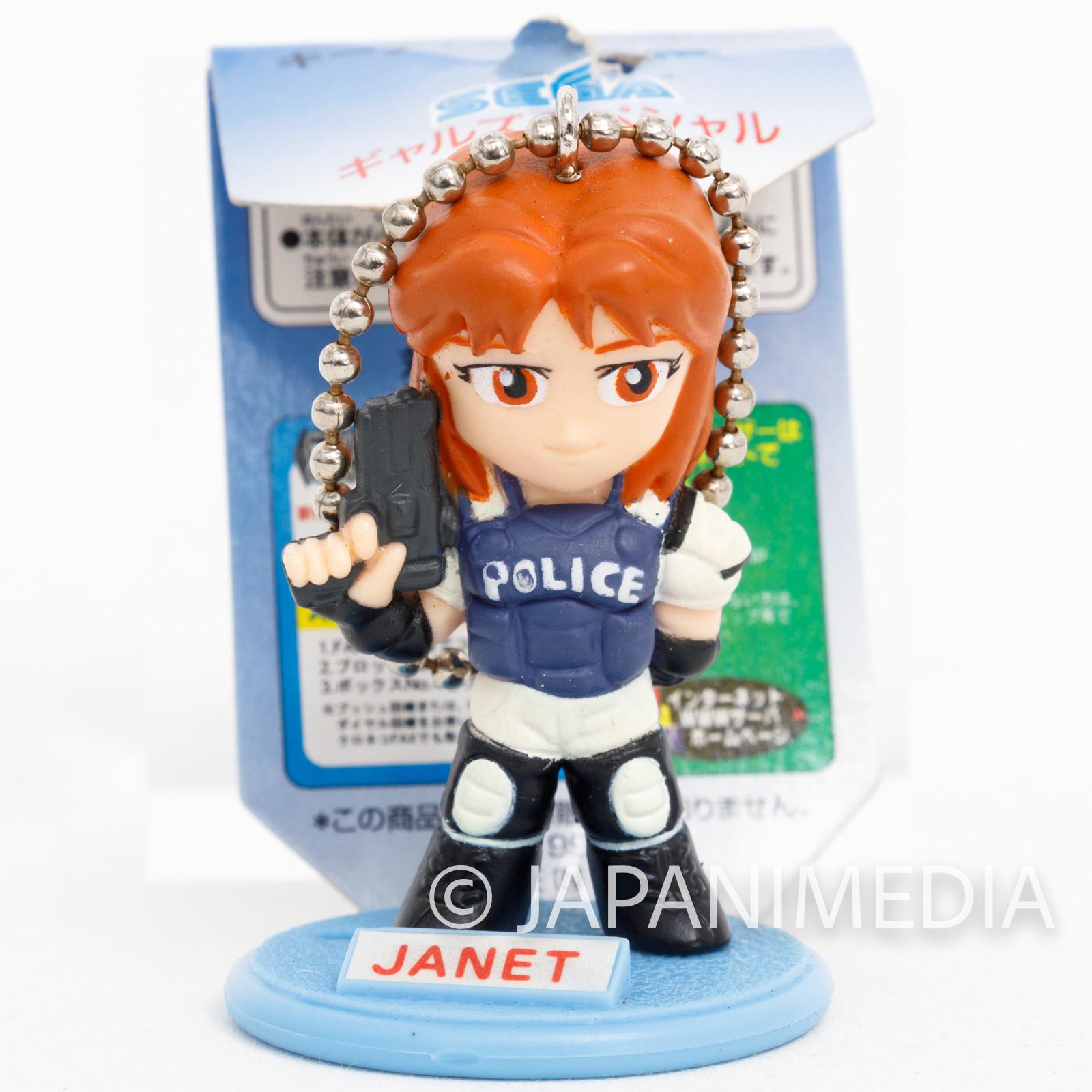 Virtua Cop 2 Janet Marshall SEGA Gals Special Figure Ball chain JAPAN GAME