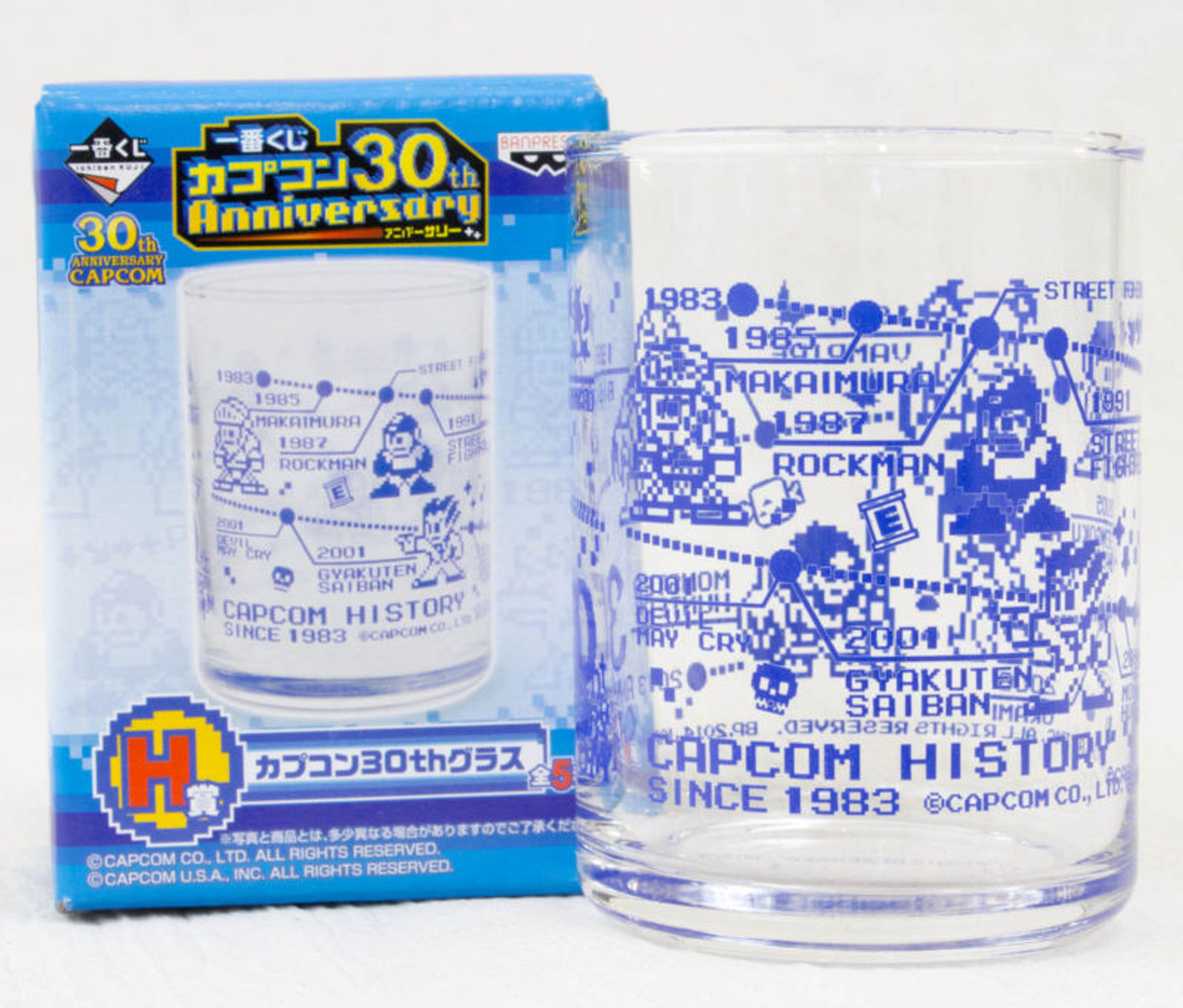 Capcom 30th Anniversary Glass Dot Character Ver. Rockman RESIDENT EVIL JAPAN GAME