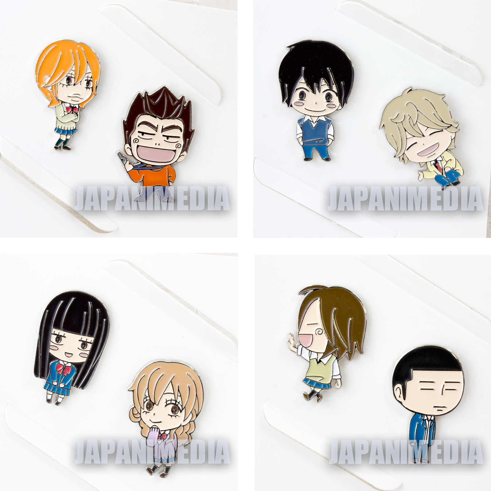 RARE!! Complete set of Kimi ni Todoke Pins Limited + Background Stand JAPAN 2