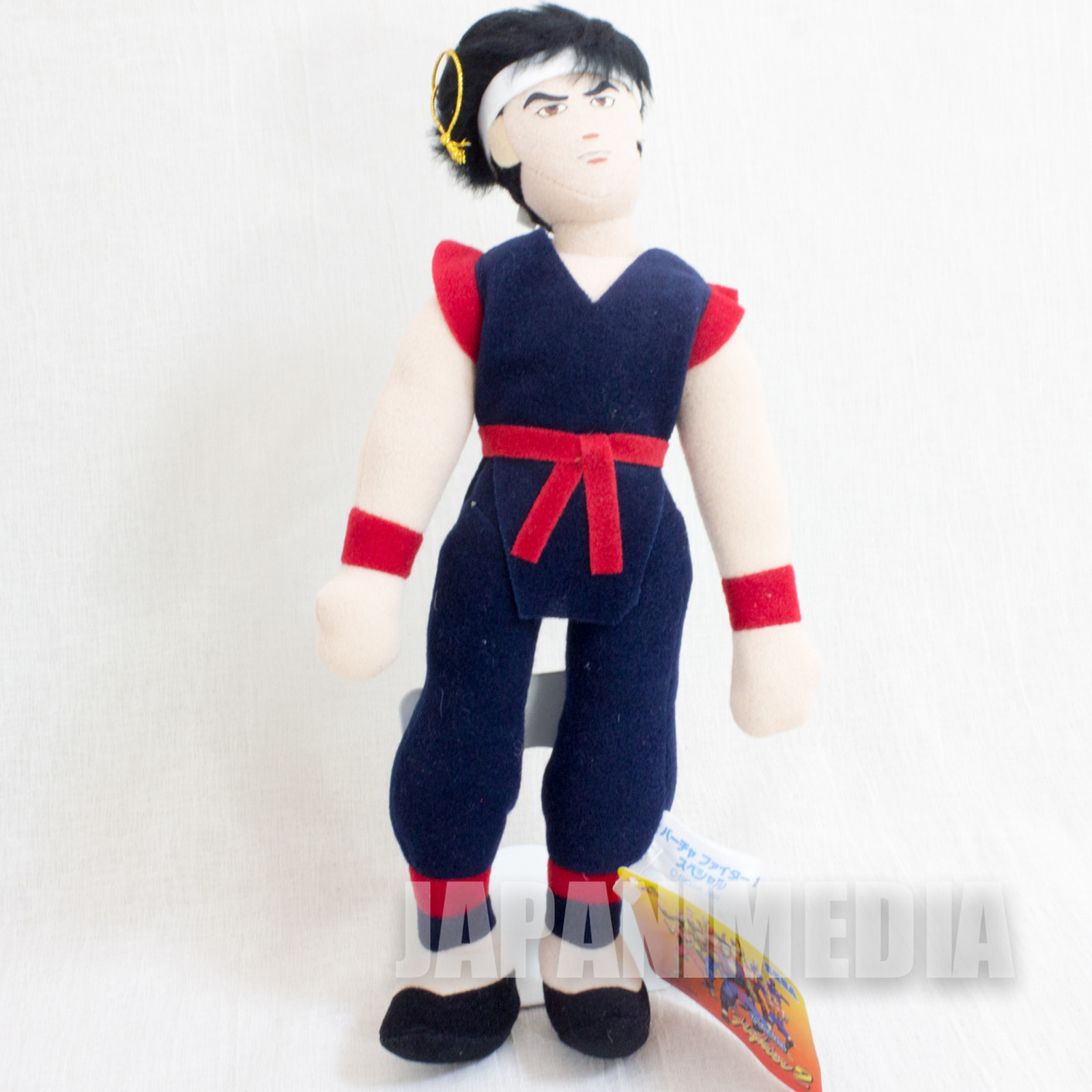 "Virtua Fighter 2 Akira Yuki 10"" Plush Doll SEGA 1994 JAPAN GAME FIGURE"