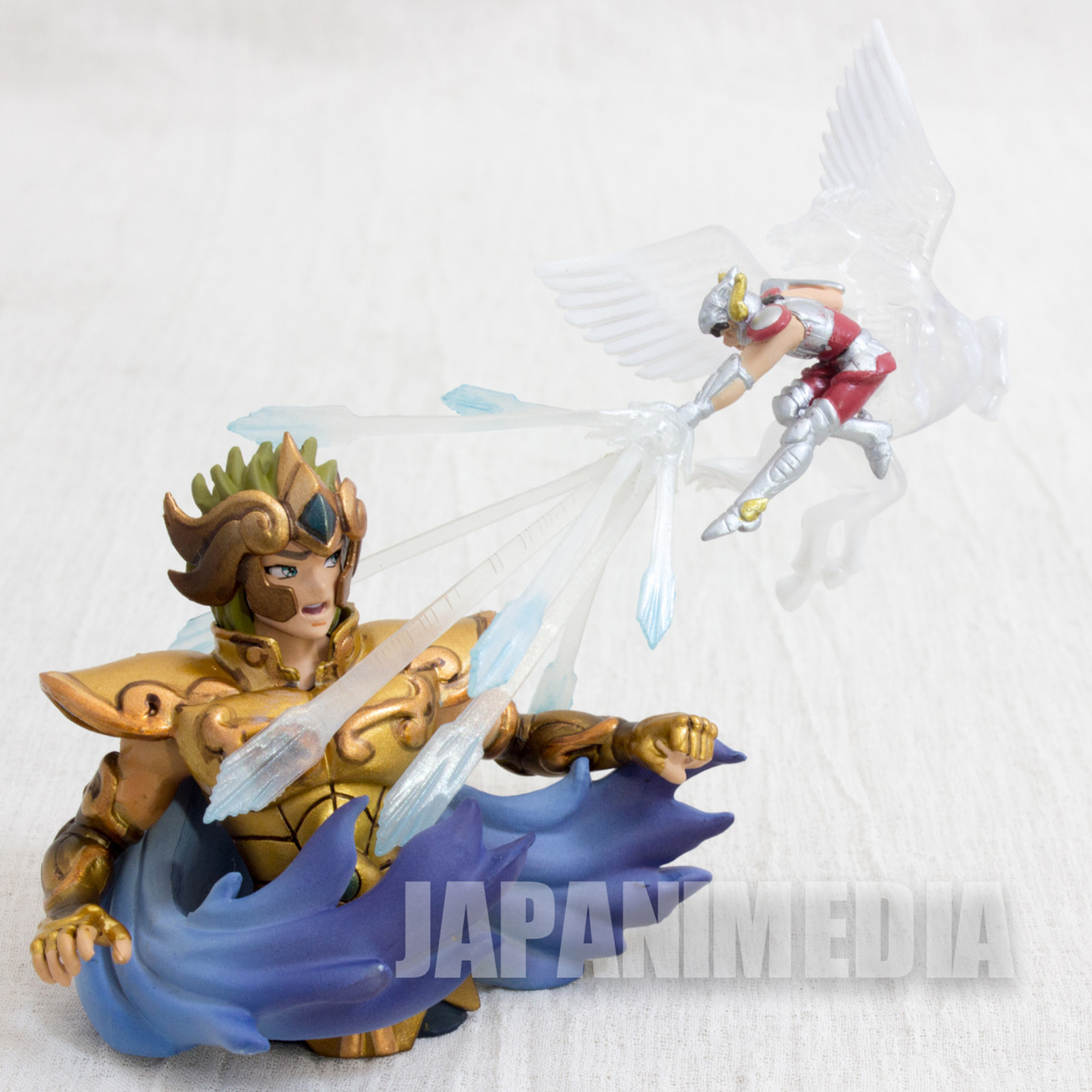 Saint Seiya Diorama Figure Leo Aiolia VS Pegasus Seiya Megahouse JAPAN
