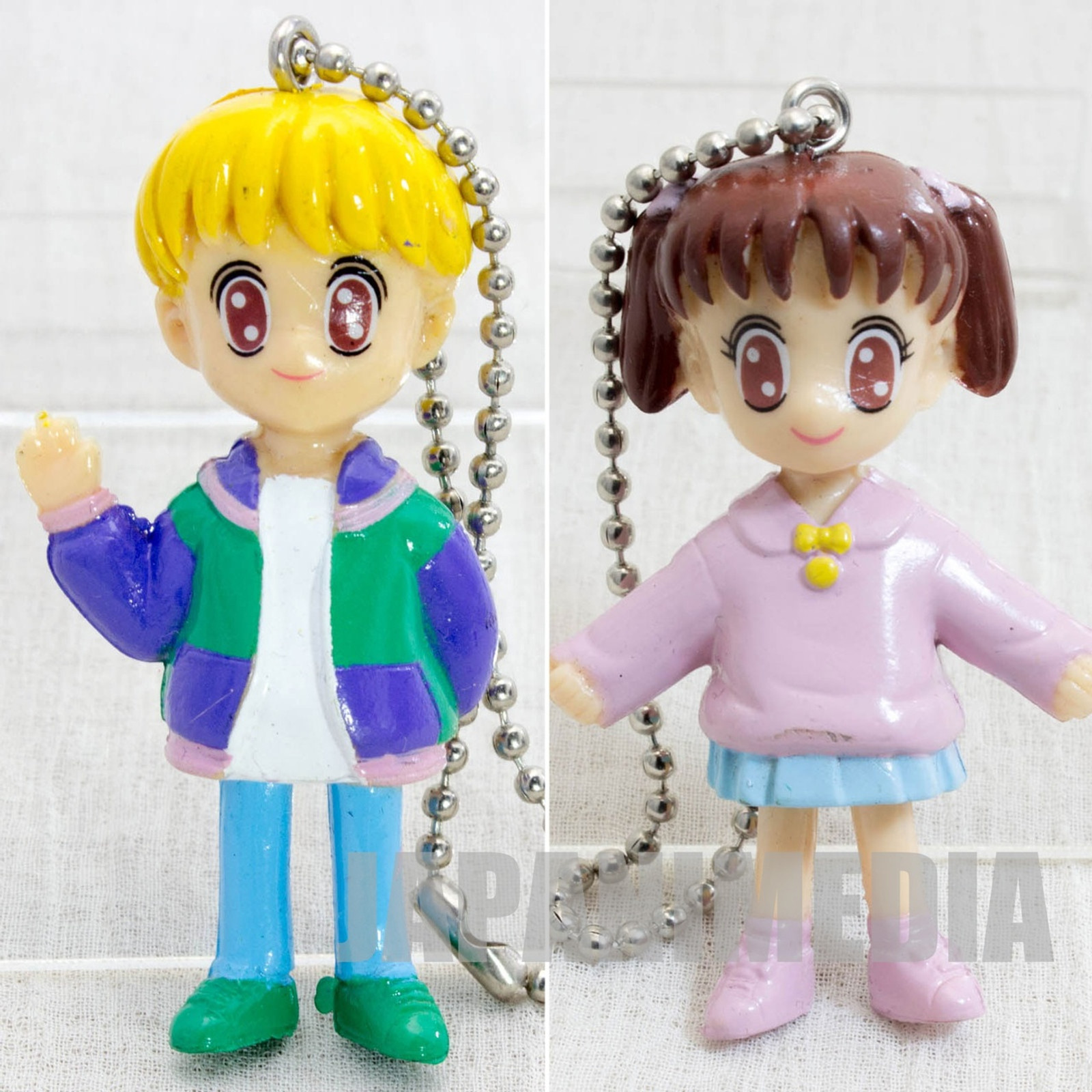 Retro RARE! Marmalade Boy Miki & You Figure Ball key chain BANDAI JAPAN ANIME