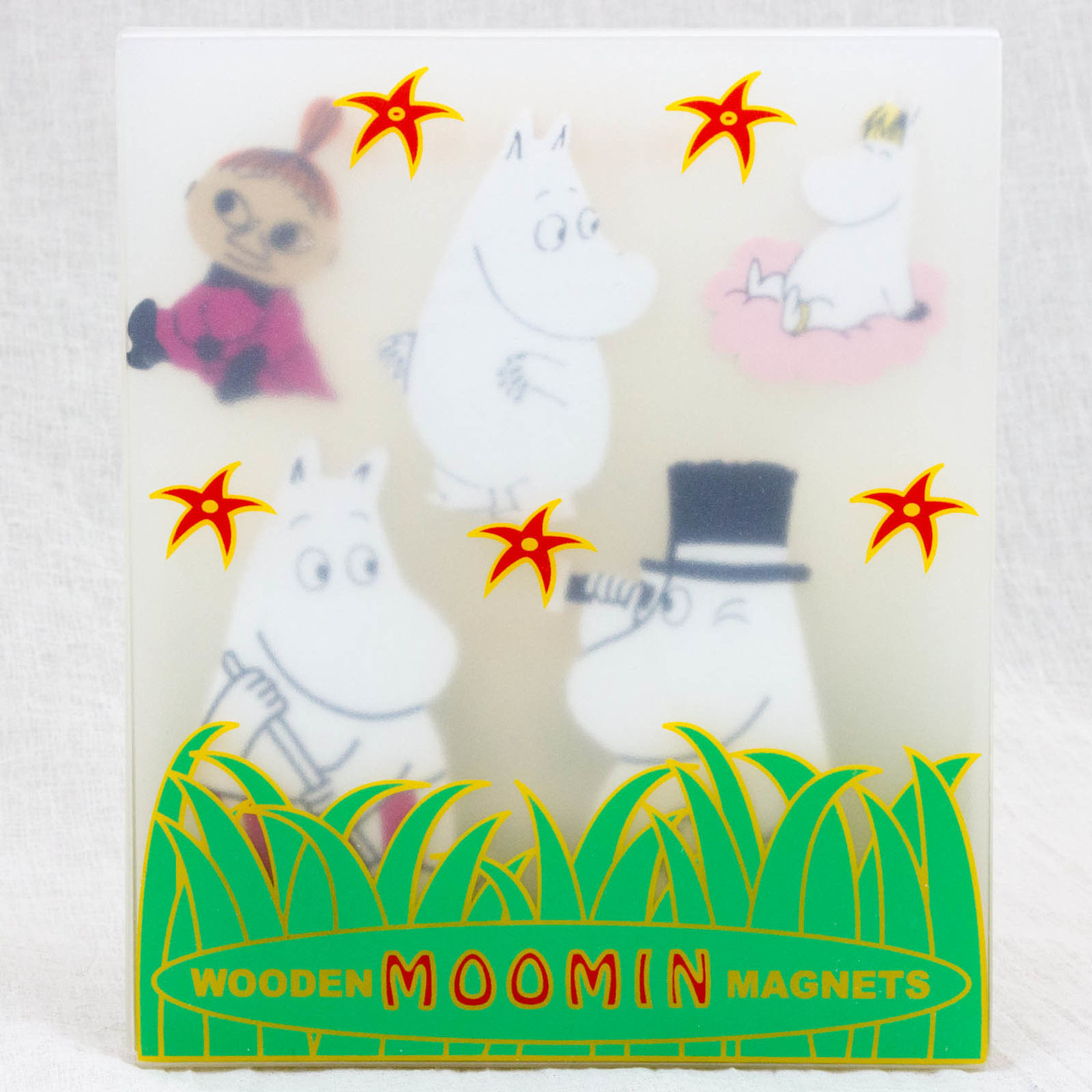 RARE!!! Moomin Wooden Magnets Set APRILMAI FINLAND