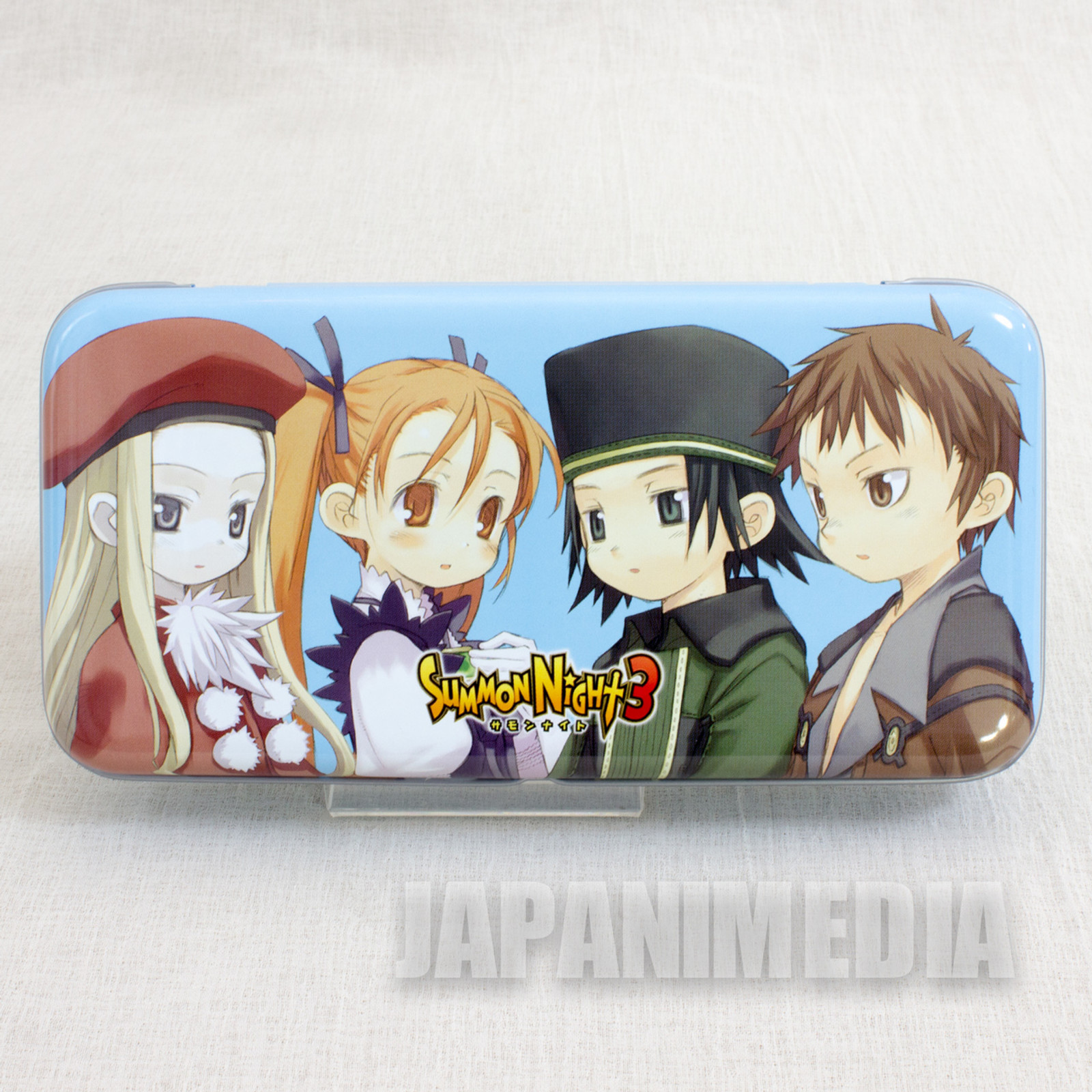 Summon Night 3 Can Pen Case [ Nup / Belfraw / Alieze / Will ] PS2 JAPAN GAME
