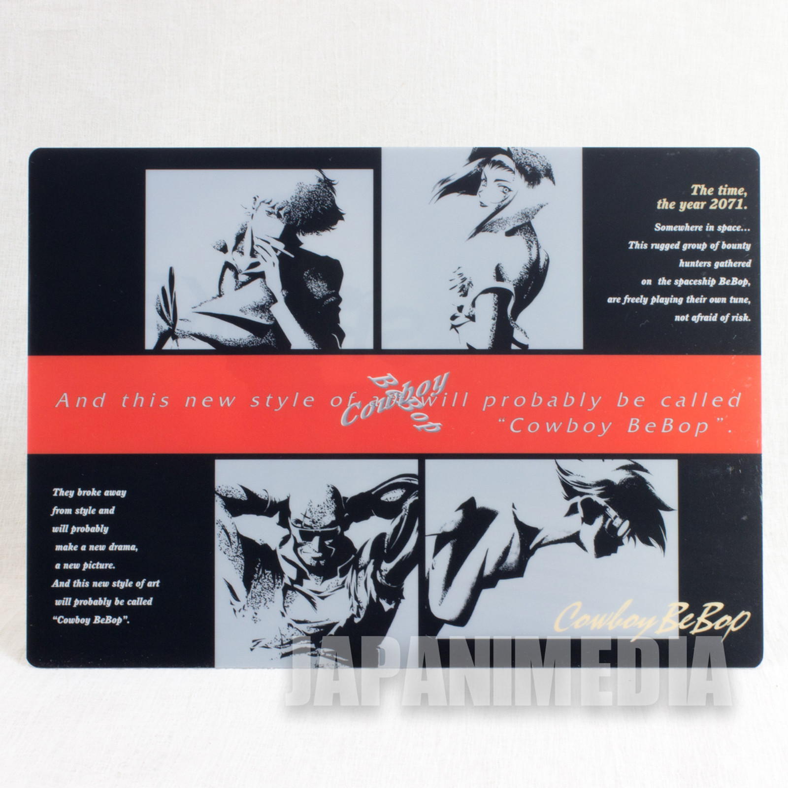 Cowboy Bebop Plastic Pencil Board [ Spike / Jet / Faye / Ed ] JAPAN ANIME