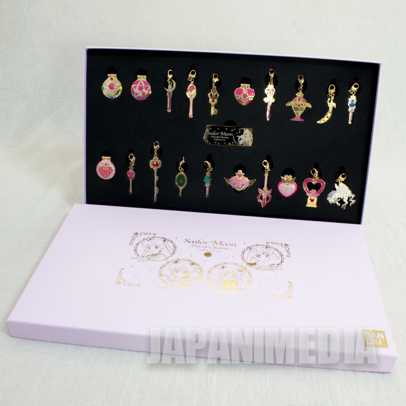 Sailor Moon Pins & Charm Fullmoon Set JAPAN ANIME MANGA