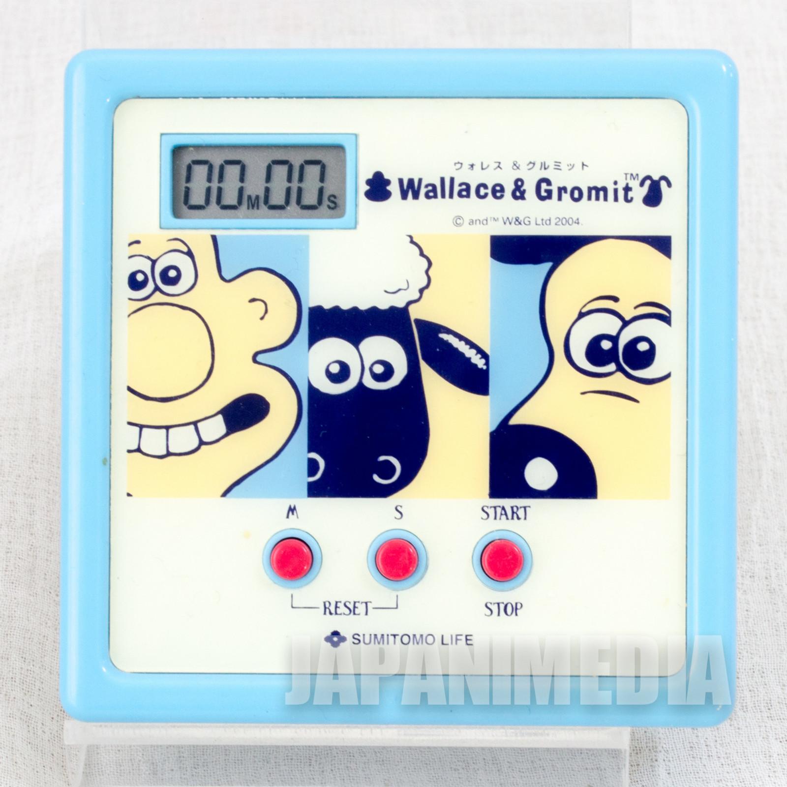 RARE! Wallace & Gromit Kitchen Timer Ardman JAPAN