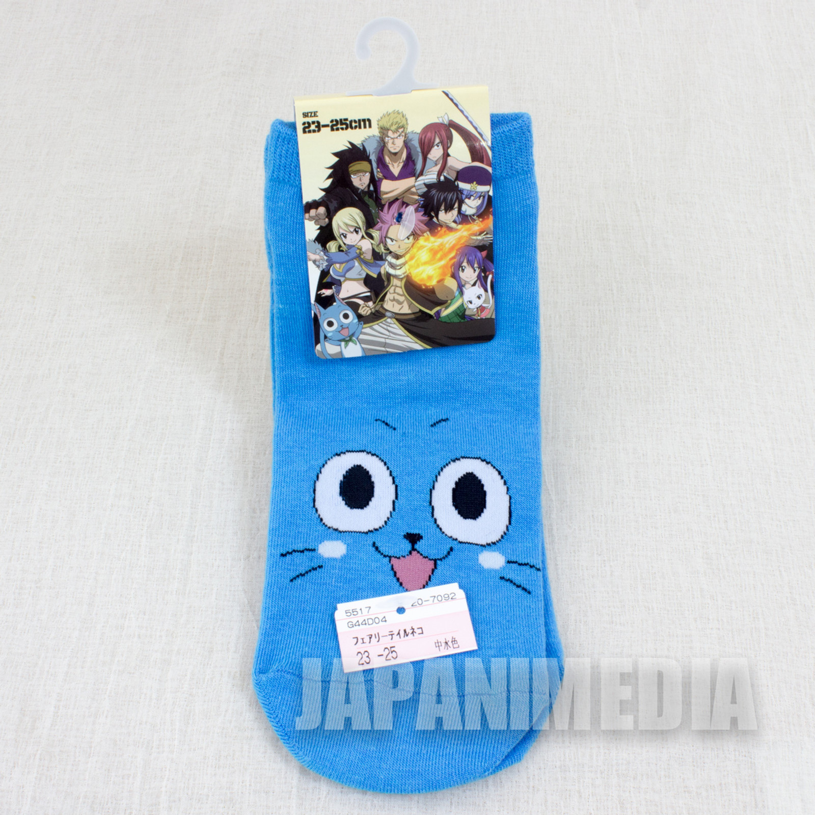 FAIRY TAIL a Pair of Socks Size 23-25cm Happy Cat JAPAN ANIME