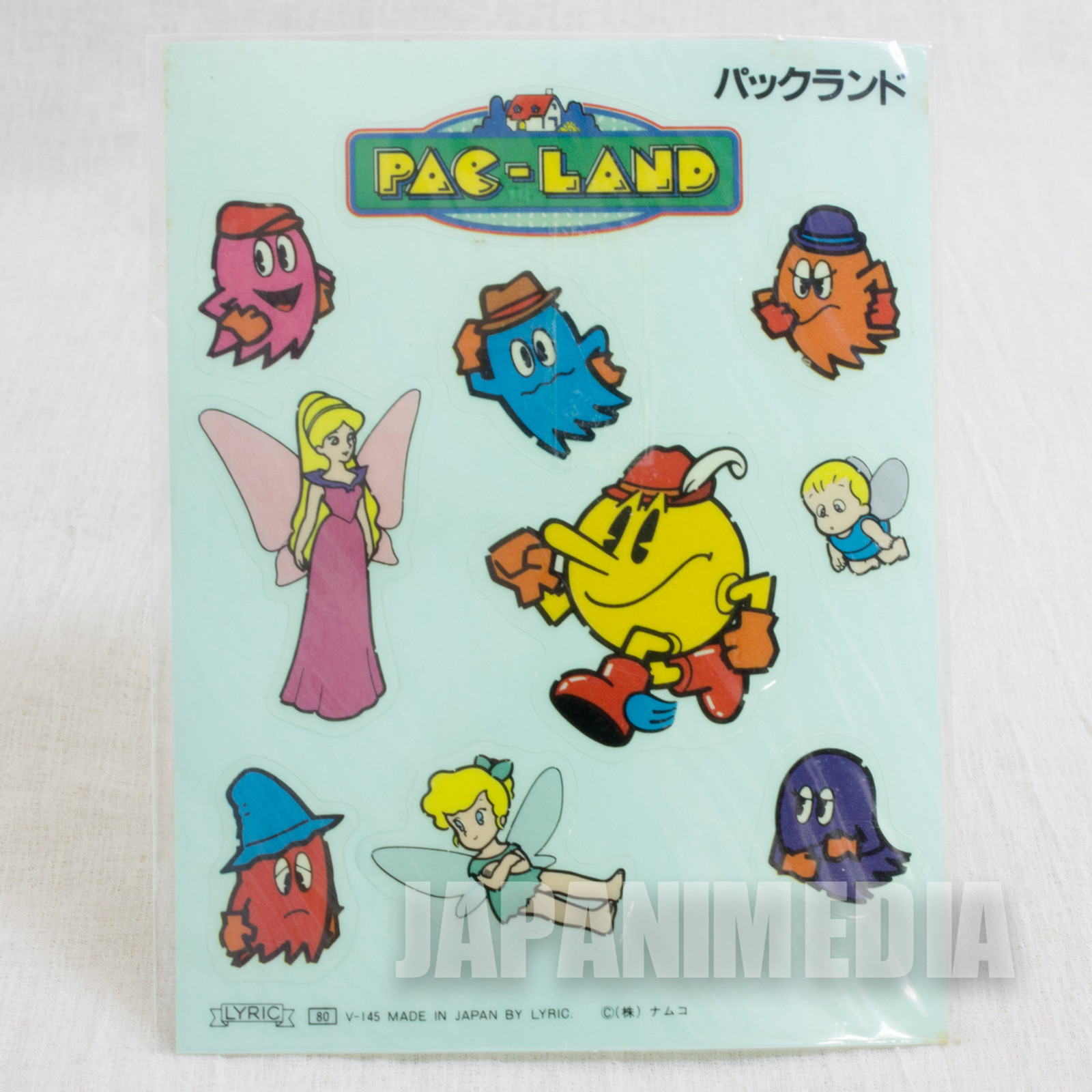Rare!! Pac-Land Sticker Seat Namco JAPAN NES FAMICOM