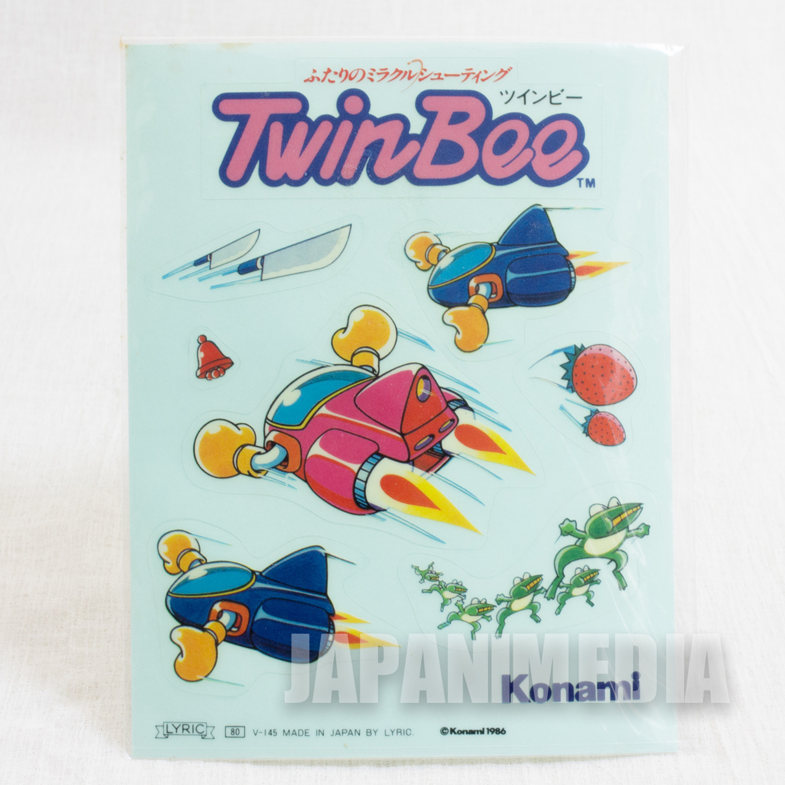 Rare!! TwinBee Sticker Seat Konami 1986 JAPAN NES FAMICOM