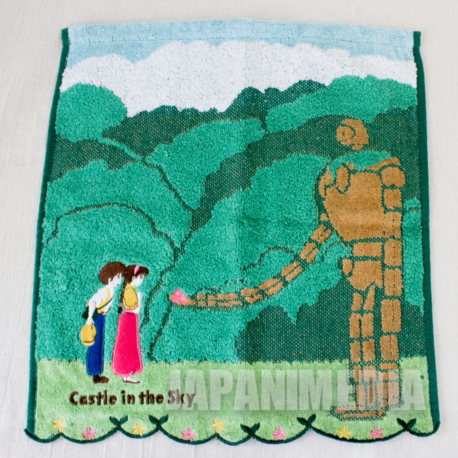 Castle in the Sky Hand Tawol Cotton 100% 14x13 inch JAPAN