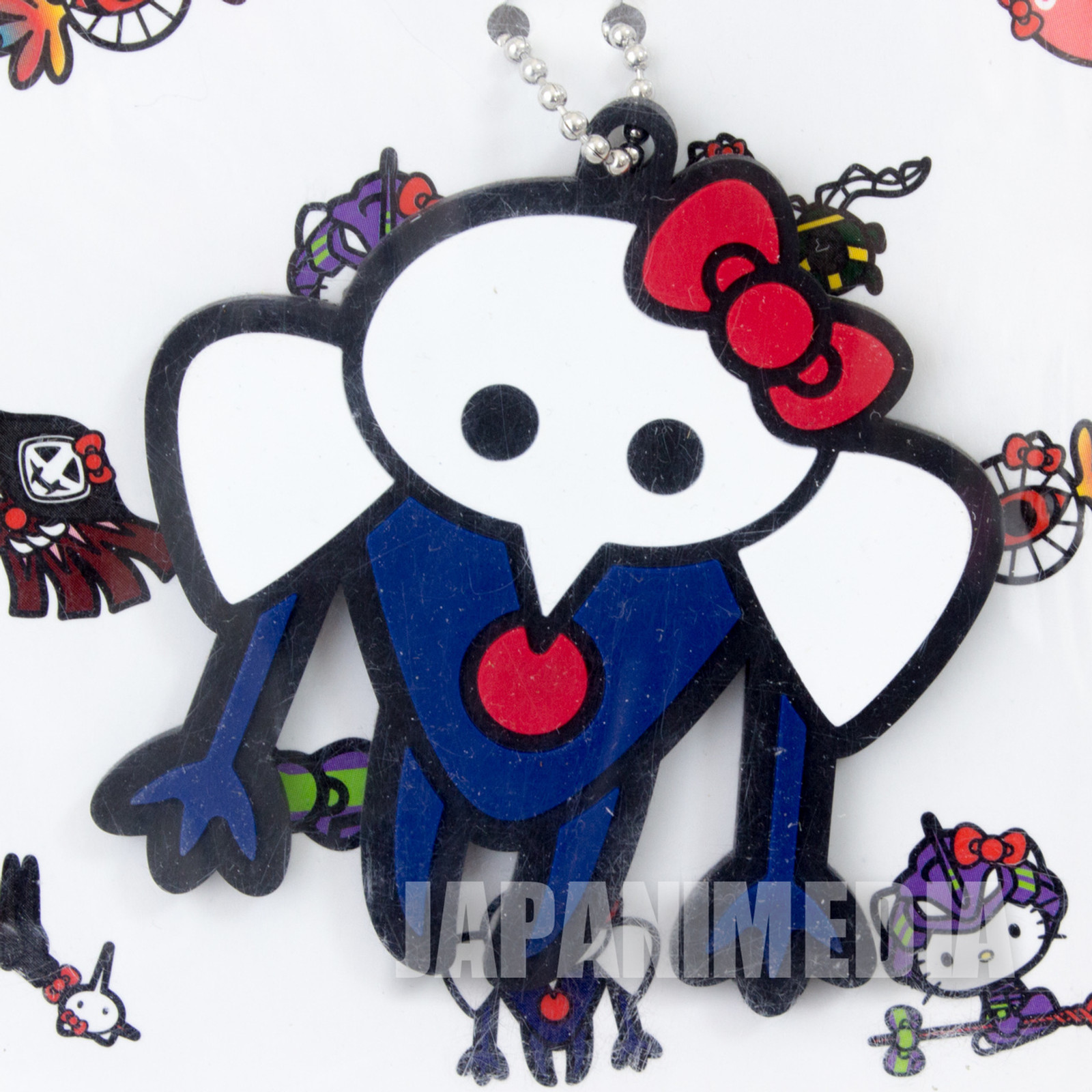 Evangelion Sachiel x Hello Kitty Rubber Mascot Ballchain JAPAN ANIME MANGA