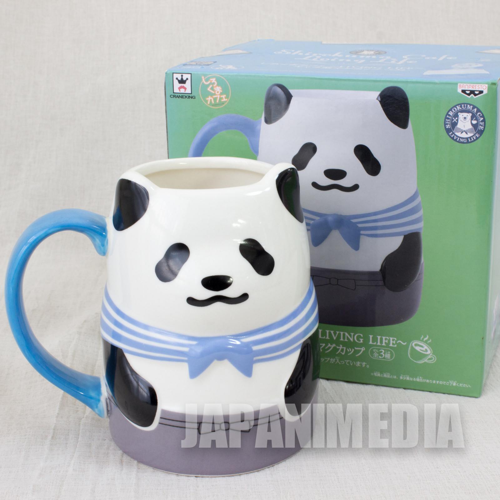 Shirokuma Cafe Panda kun Character Mug JAPAN Polar Bear Cafe ANIME