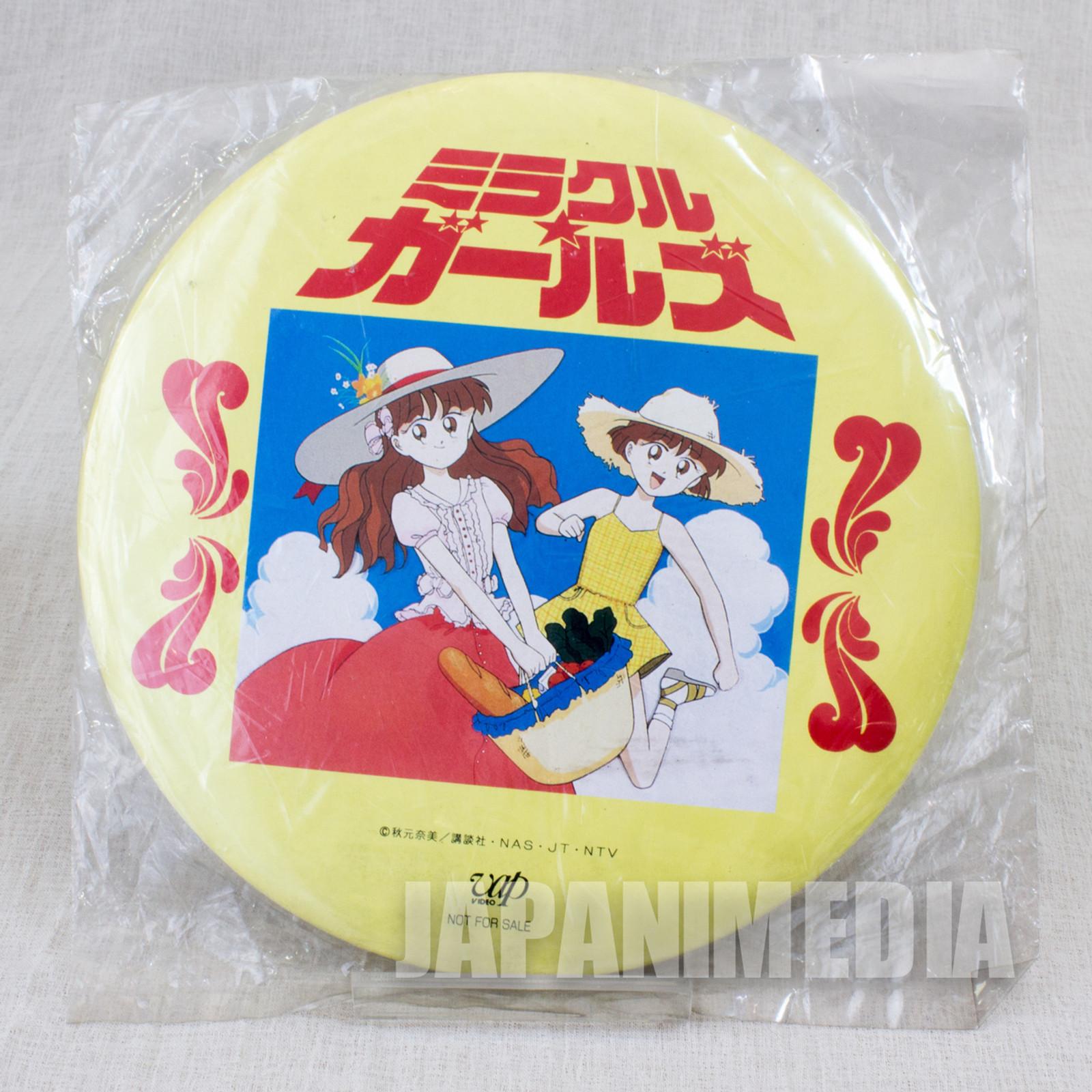 Miracle Girls Tomomi Mikage Matsunaga Big size Button badge #2 JAPAN ANIME