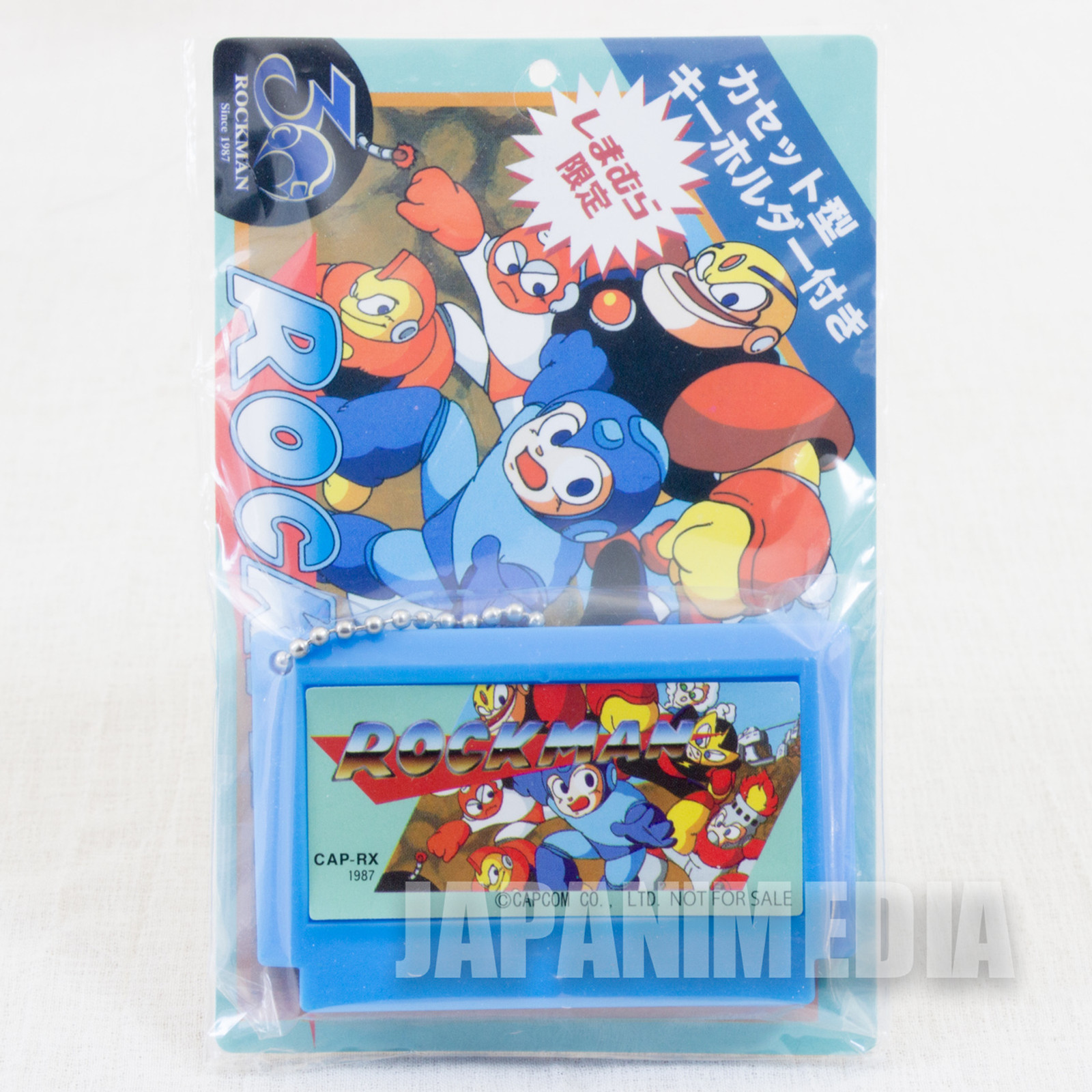Rockman Mega man Famicom Cassette Type Miniature Figure Ballchain Capcom JAPAN NES