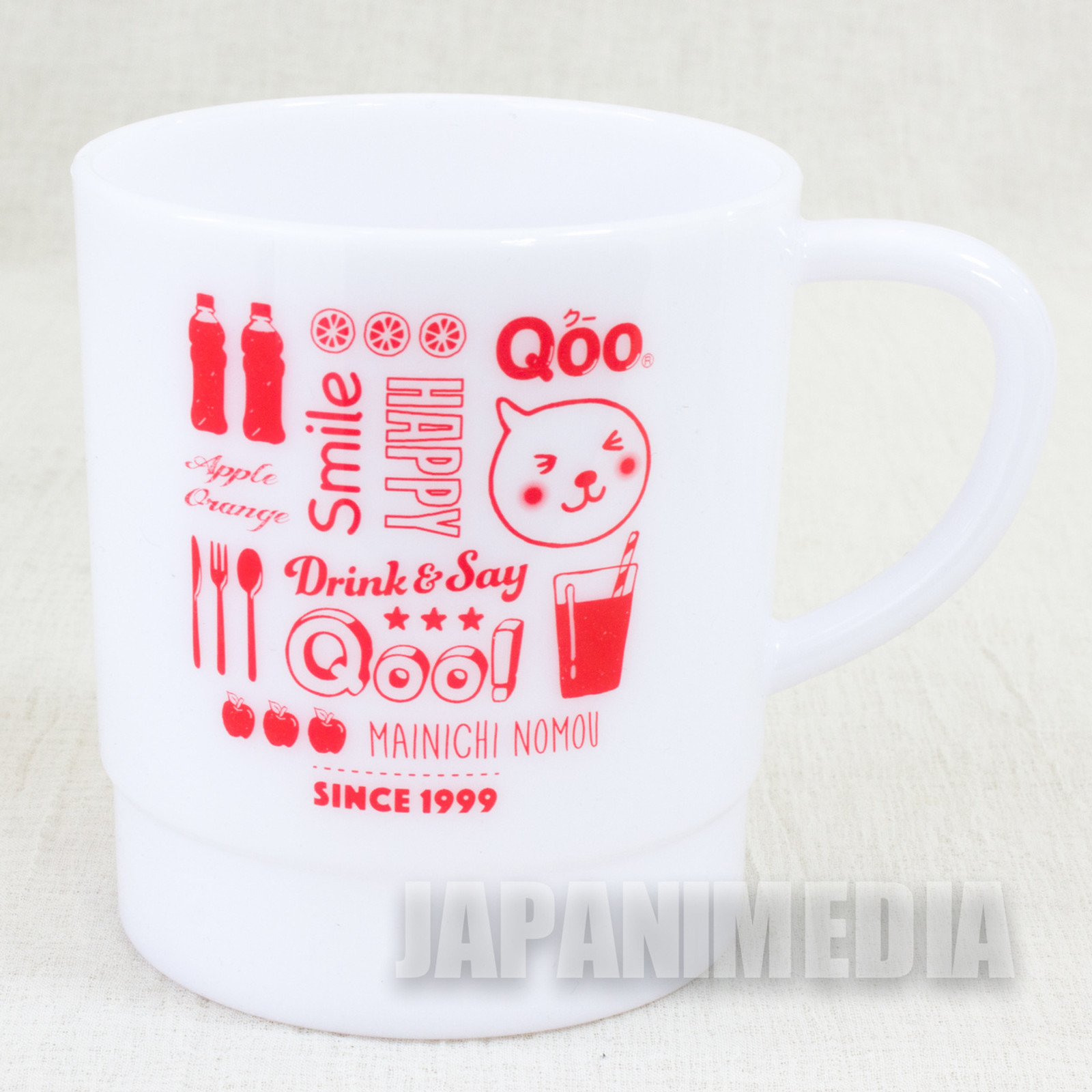 Qoo Milky Stacking Plastic Mug White