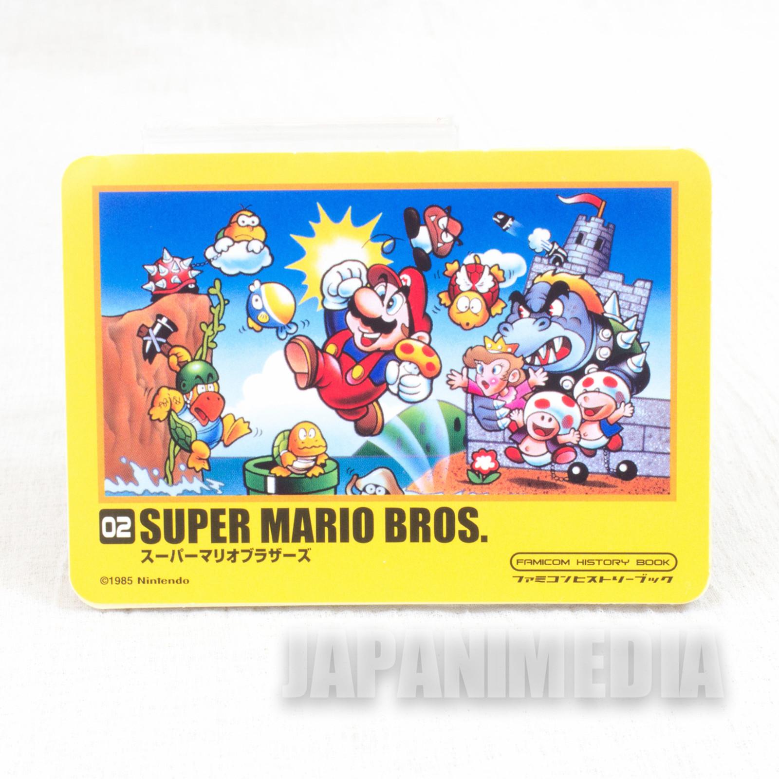 RARE Super Mario Bros. Sticker Famicon History Book JAPAN GAME NES
