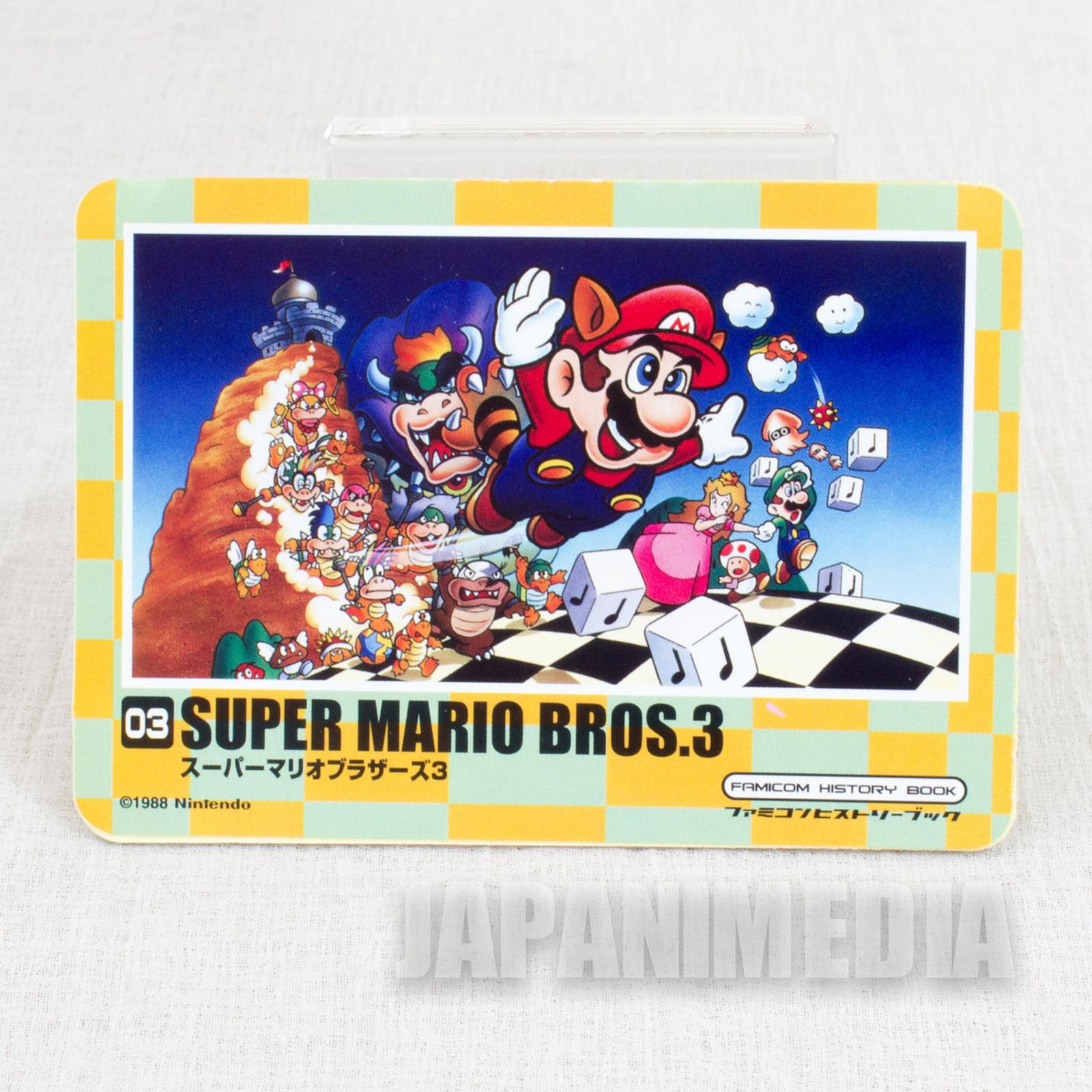 RARE Super Mario Bros. 3 Sticker Famicon History Book JAPAN GAME NES