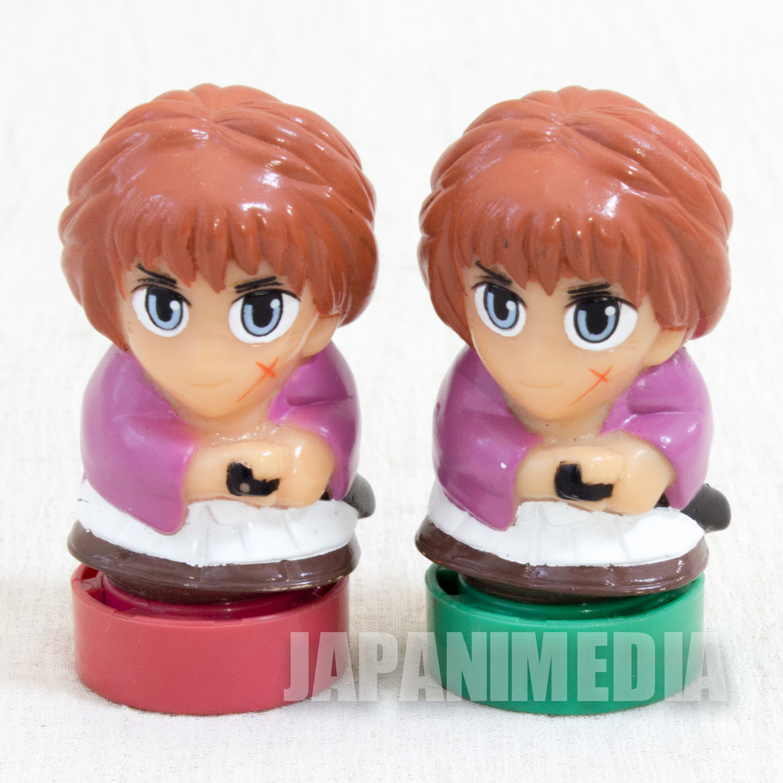 Rurouni Kenshin Figure Stamp 2pc JAPAN ANIME MANGA