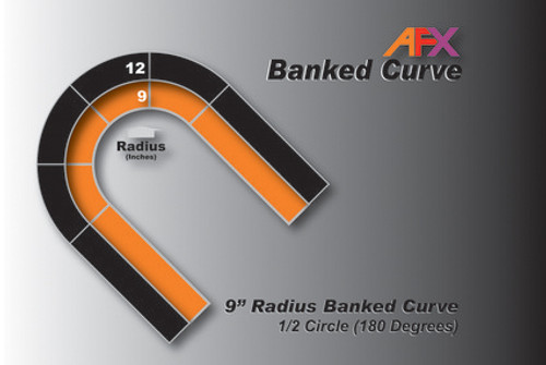 "AFX Racing Track 9"" Radius Banked Curve"