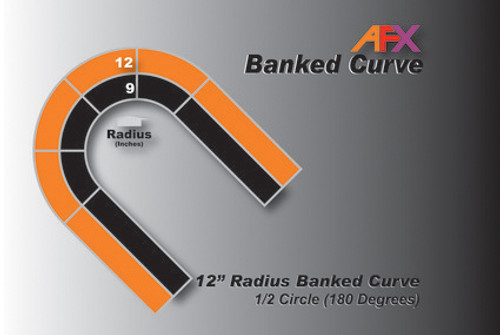 "AFX Racing Track 12"" Radius Banked Curve"