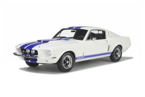 1:12 Ford Mustang GT500 Cobra White with Blue Stripe
