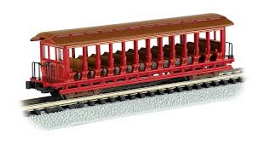 Jackson Sharp Open Side Excursion Car with Seats Painted Unlettered