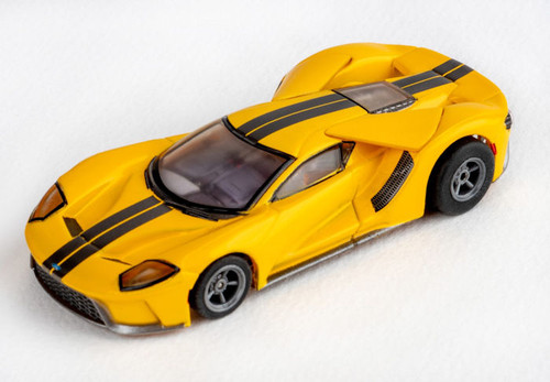 AFX Ford GT Triple Yellow
